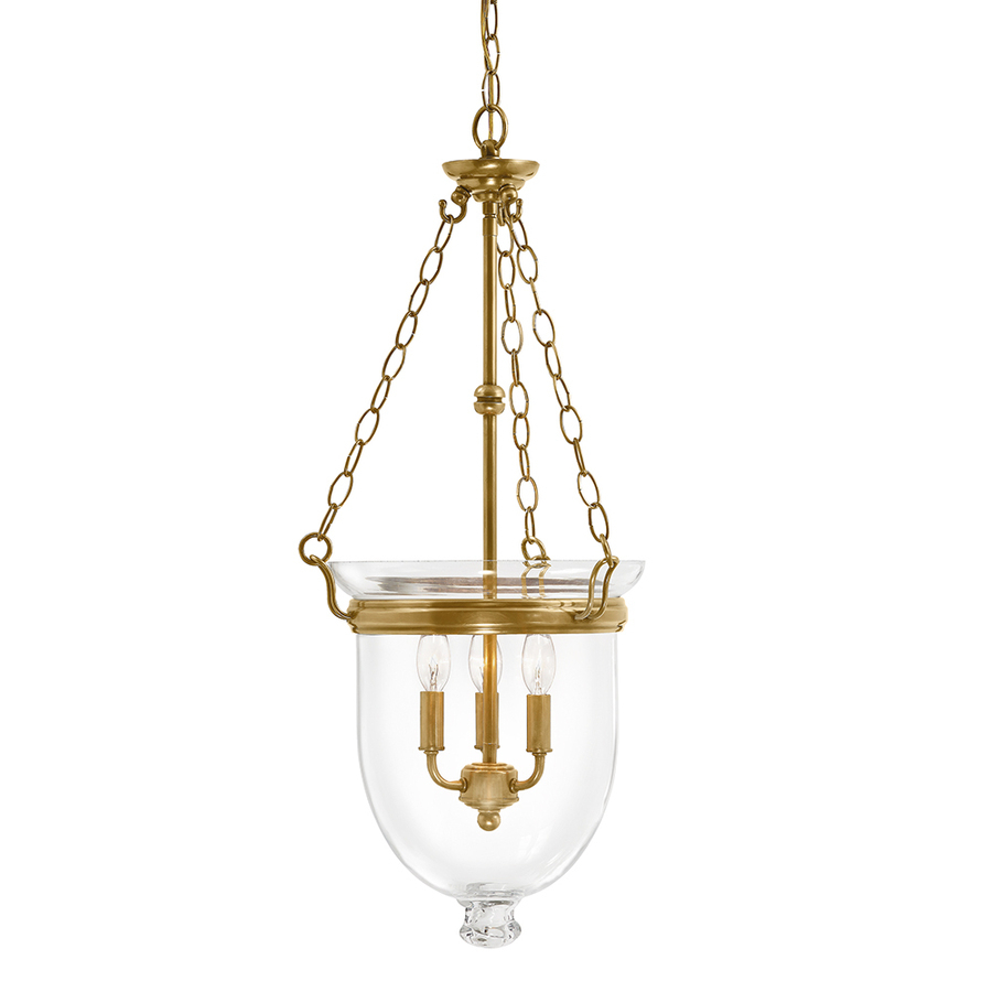 Kichler Belleville 15.51 In Natural Brass Williamsburg Single Clear Glass  Urn Pendant Throughout 3 Light Single Urn Pendants (Photo 15 of 30)