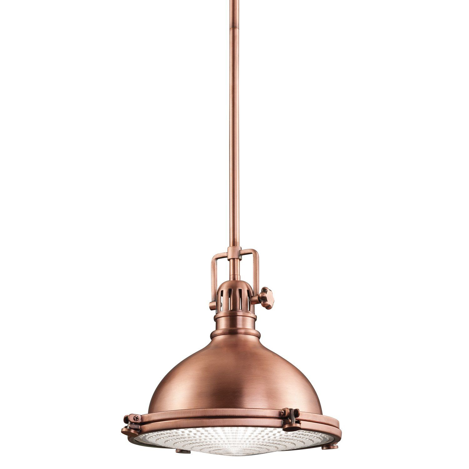 Kichler Lighting 2665aco Hatteras Bay 1lt Pendant, Antique Within Proctor 1 Light Bowl Pendants (View 21 of 30)