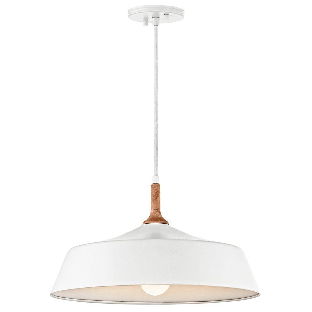 Kichler Lighting Danika Collection 1 Light White Pendant Inside Nadeau 1 Light Single Cone Pendants (View 16 of 30)