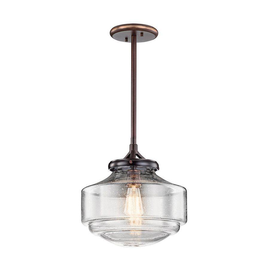 Kichler Lighting Keller 12 In Shadow Brass Vintage Hardwired Intended For Macon 1 Light Single Dome Pendants (Photo 30 of 30)