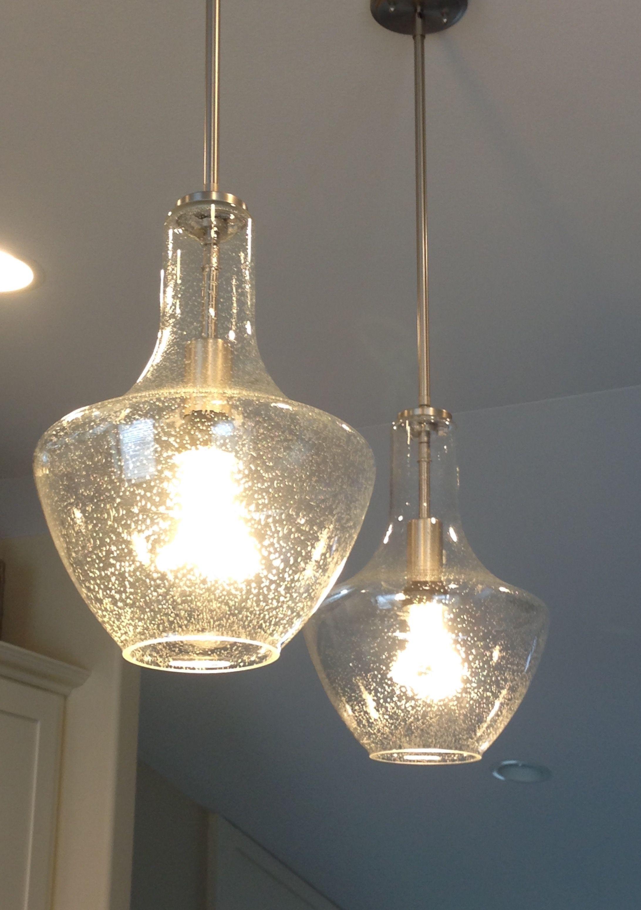 Kichler Seeded Glass Pendant Lights …   Lighting In 2019… Inside Terry 1 Light Single Bell Pendants (Gallery 16 of 30)