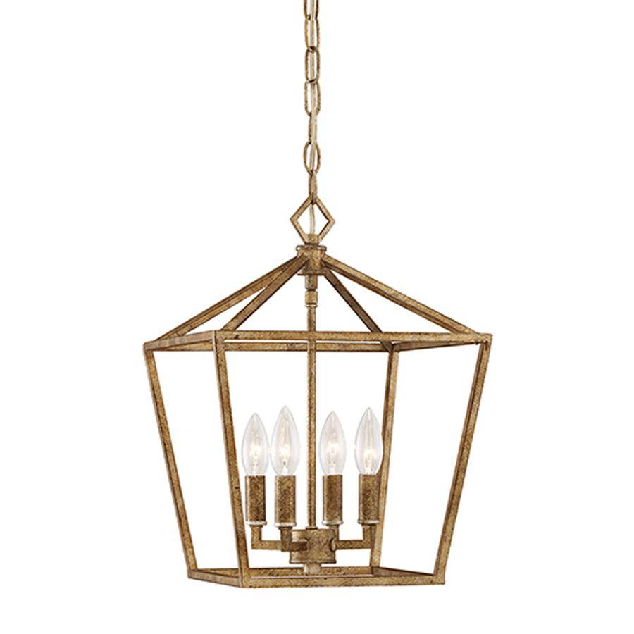 Kids Bath: Shop Millennium Lighting 12 In Vintage Gold Inside Destrey 3 Light Lantern Square/rectangle Pendants (View 17 of 30)