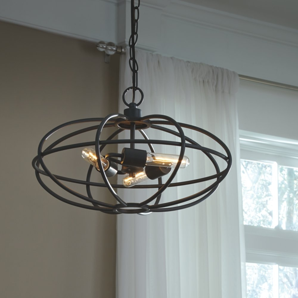Kidsgrove 3 Light Globe Chandelier For Verlene Foyer 5 Light Globe Chandeliers (View 18 of 30)