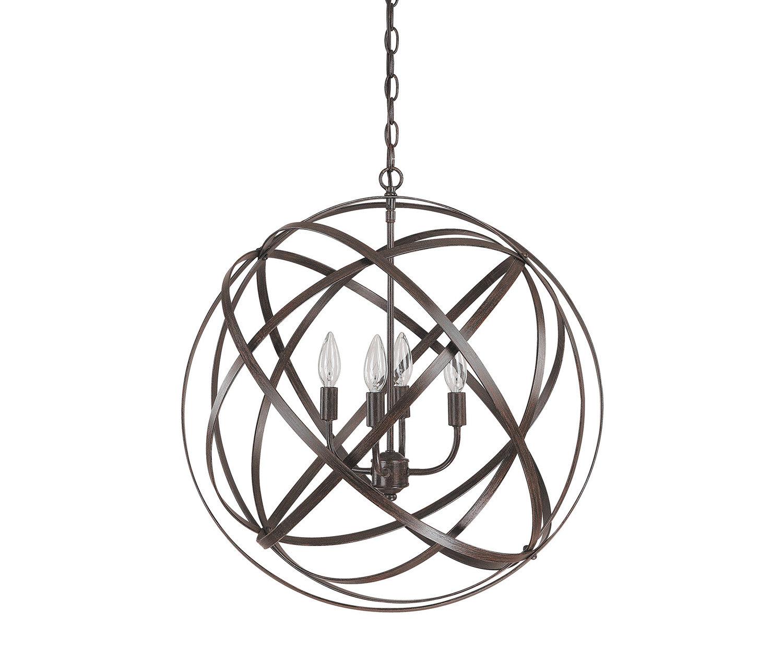 Kierra 4 Light Unique / Statement Chandelier With Regard To Hendry 4 Light Globe Chandeliers (View 13 of 30)