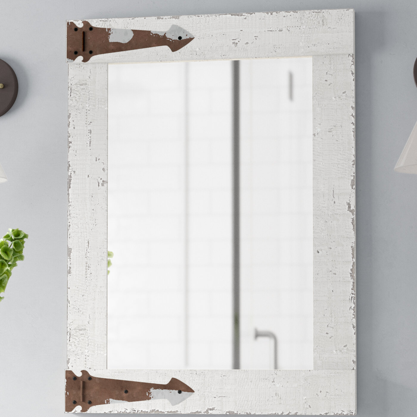 Kist Farmhouse Wall Mirror & Reviews | Birch Lane With Epinal Shabby Elegance Wall Mirrors (Gallery 26 of 30)