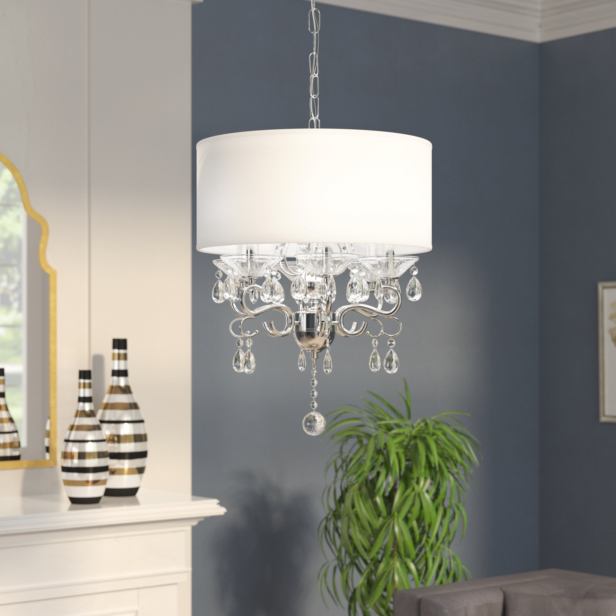 Kitchen Drum Chandelier | Wayfair Intended For Breithaup 7 Light Drum Chandeliers (Photo 26 of 30)