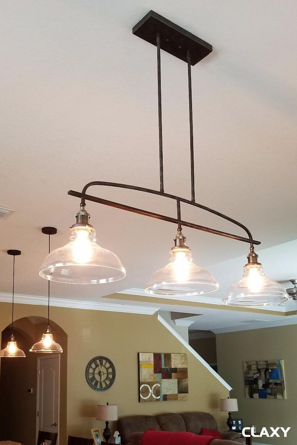 Kitchen Island Light In 2019 | Kitchen Island Lighting Ideas In Bautista 6 Light Kitchen Island Bulb Pendants (View 22 of 30)