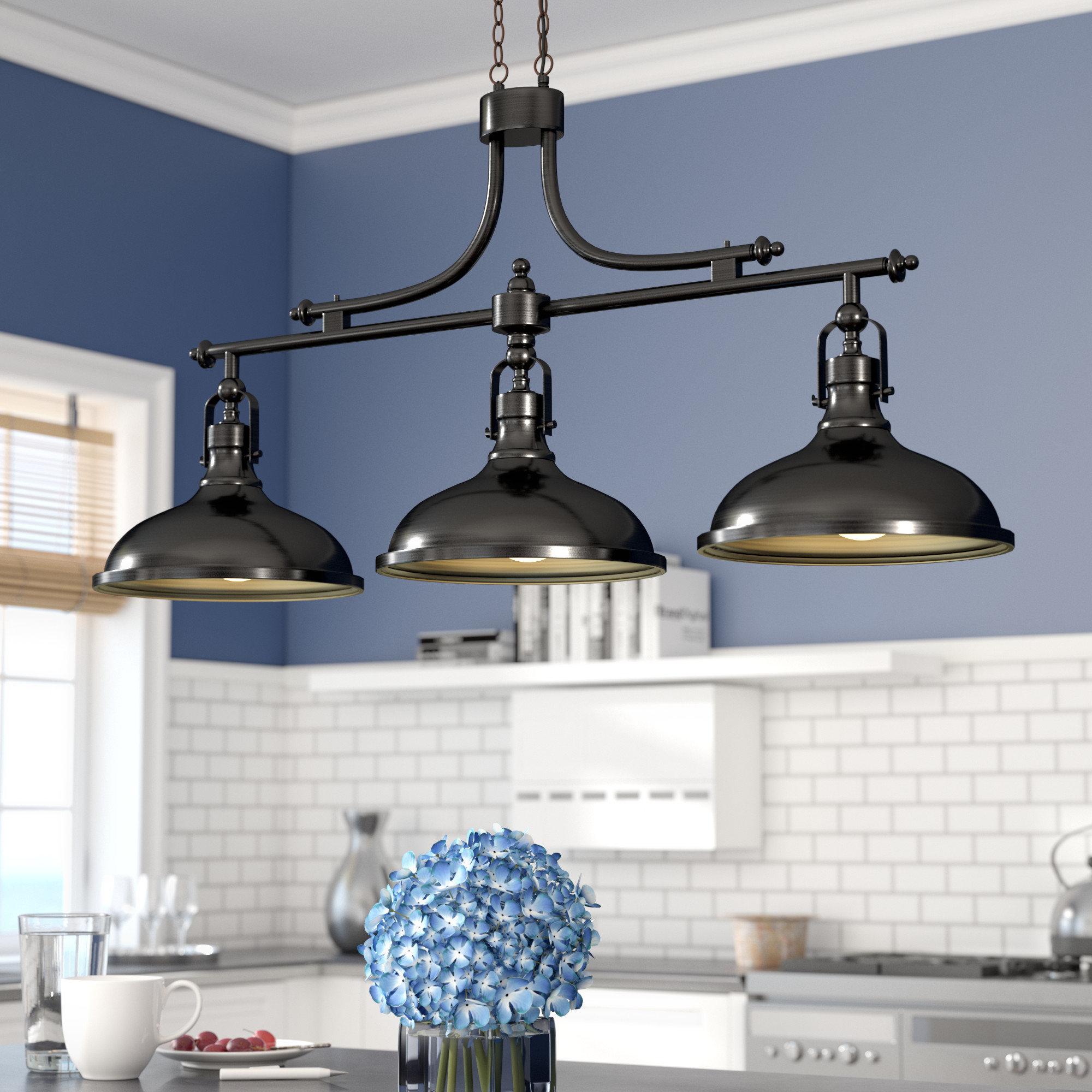 Kitchen Island Pendant Lighting Fixtures – Gnubies Pertaining To Ariel 2 Light Kitchen Island Dome Pendants (Image 20 of 30)