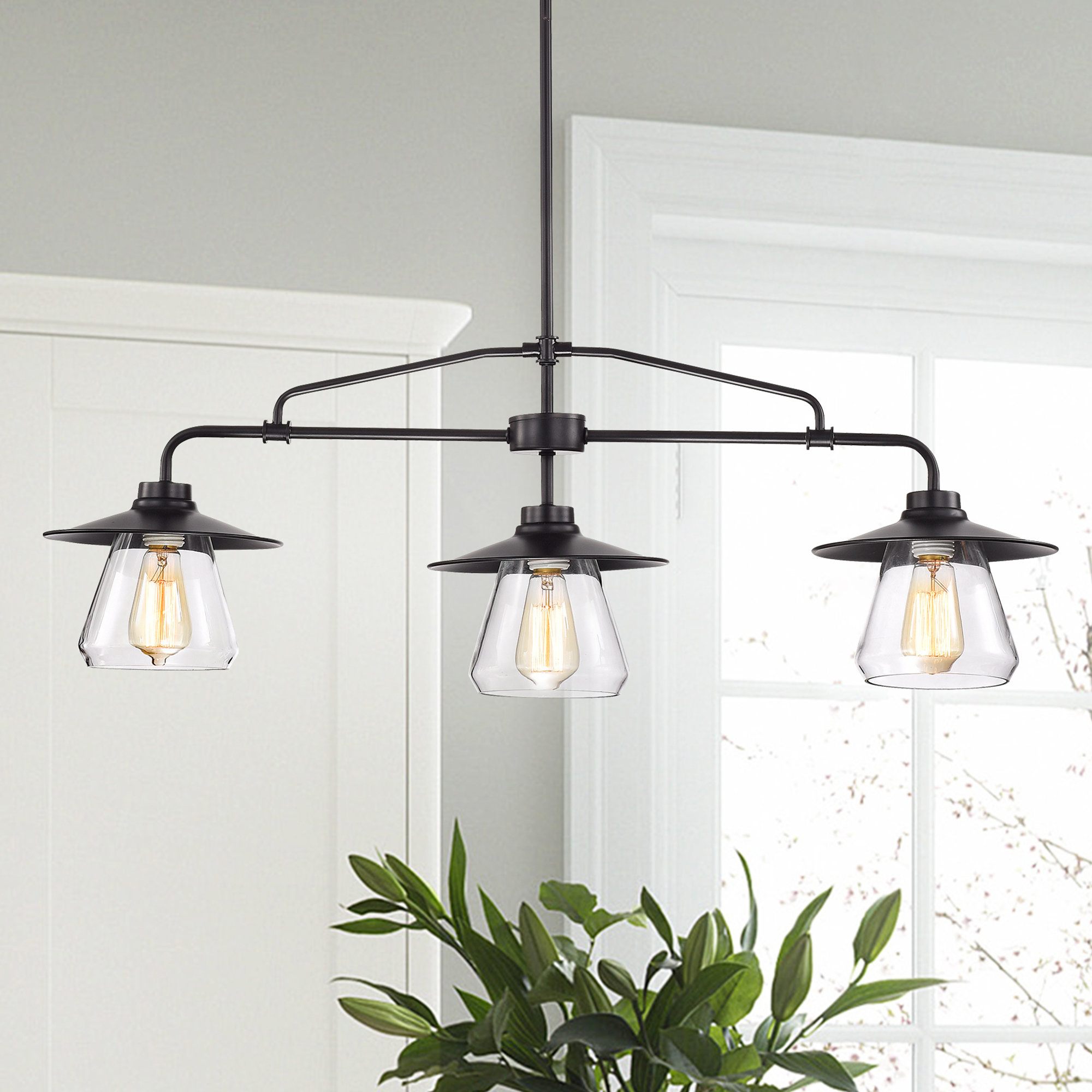 Kitchen Island Pendant Lighting Fixtures - Gnubies with regard to Ariel 2-Light Kitchen Island Dome Pendants (Image 21 of 30)