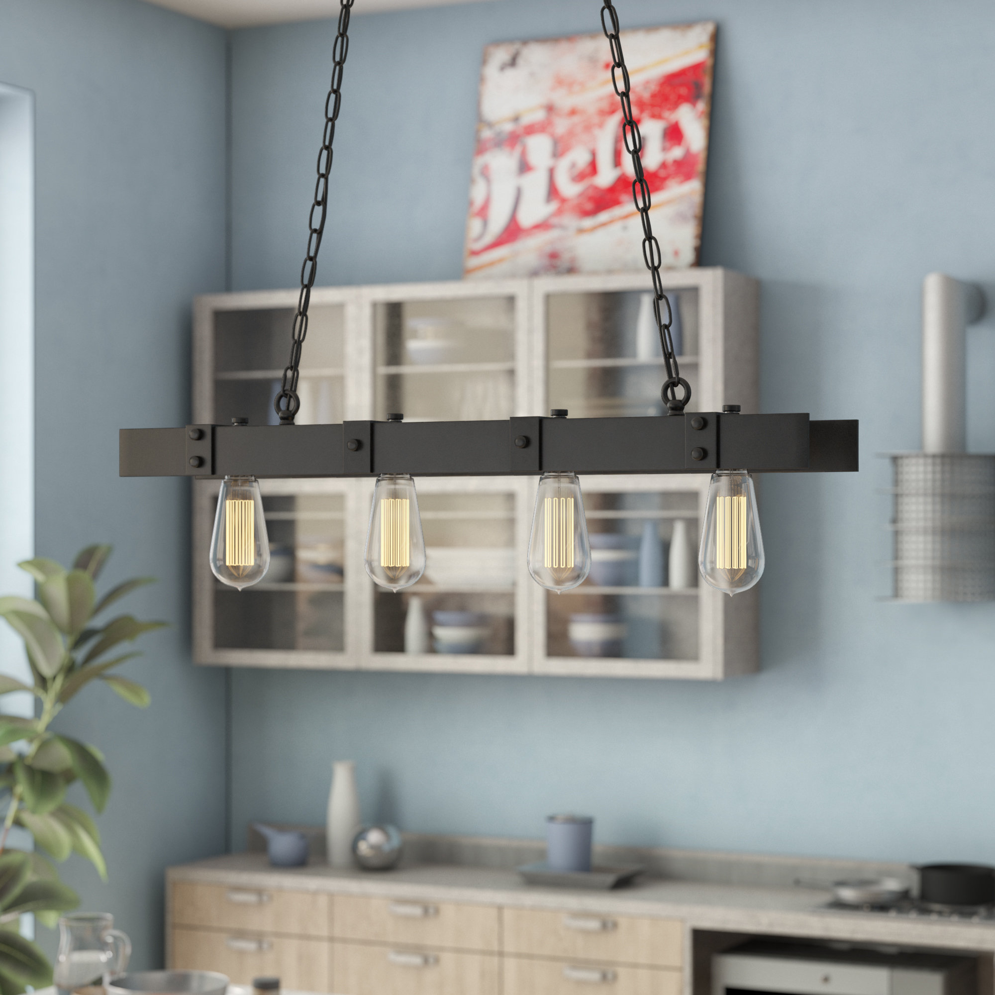 Kitchen Island Williston Forge Pendant Lighting You'll Love with regard to Schutt 4-Light Kitchen Island Pendants (Image 11 of 30)