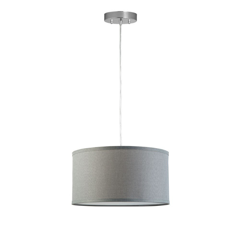 Kluge 1 Light Drum Pendant Throughout Radtke 3 Light Single Drum Pendants (Photo 12 of 30)