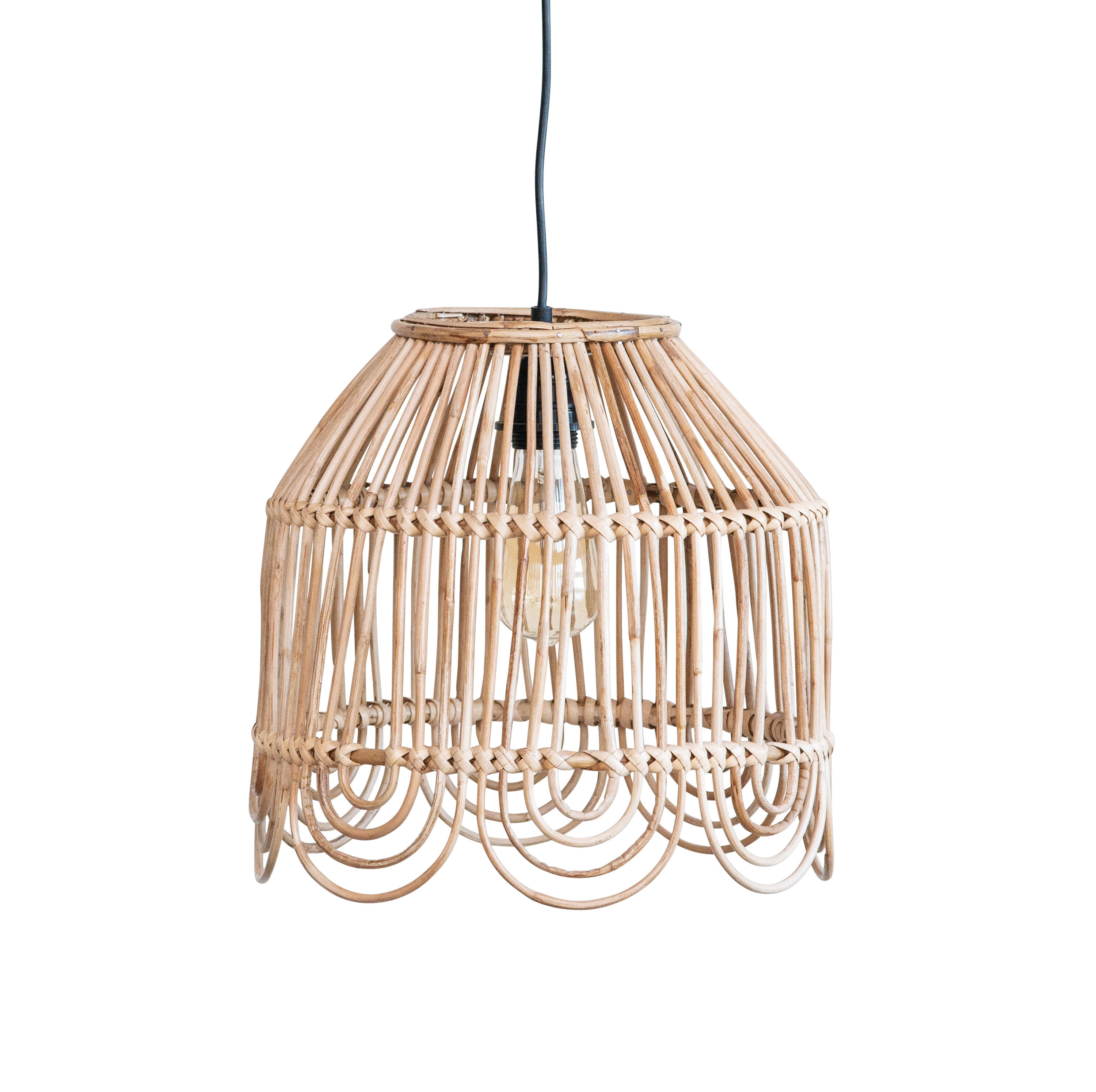 Knepp Round Cane 1 Light Dome Pendant With Regard To Kilby 1 Light Pendants (Photo 5 of 30)