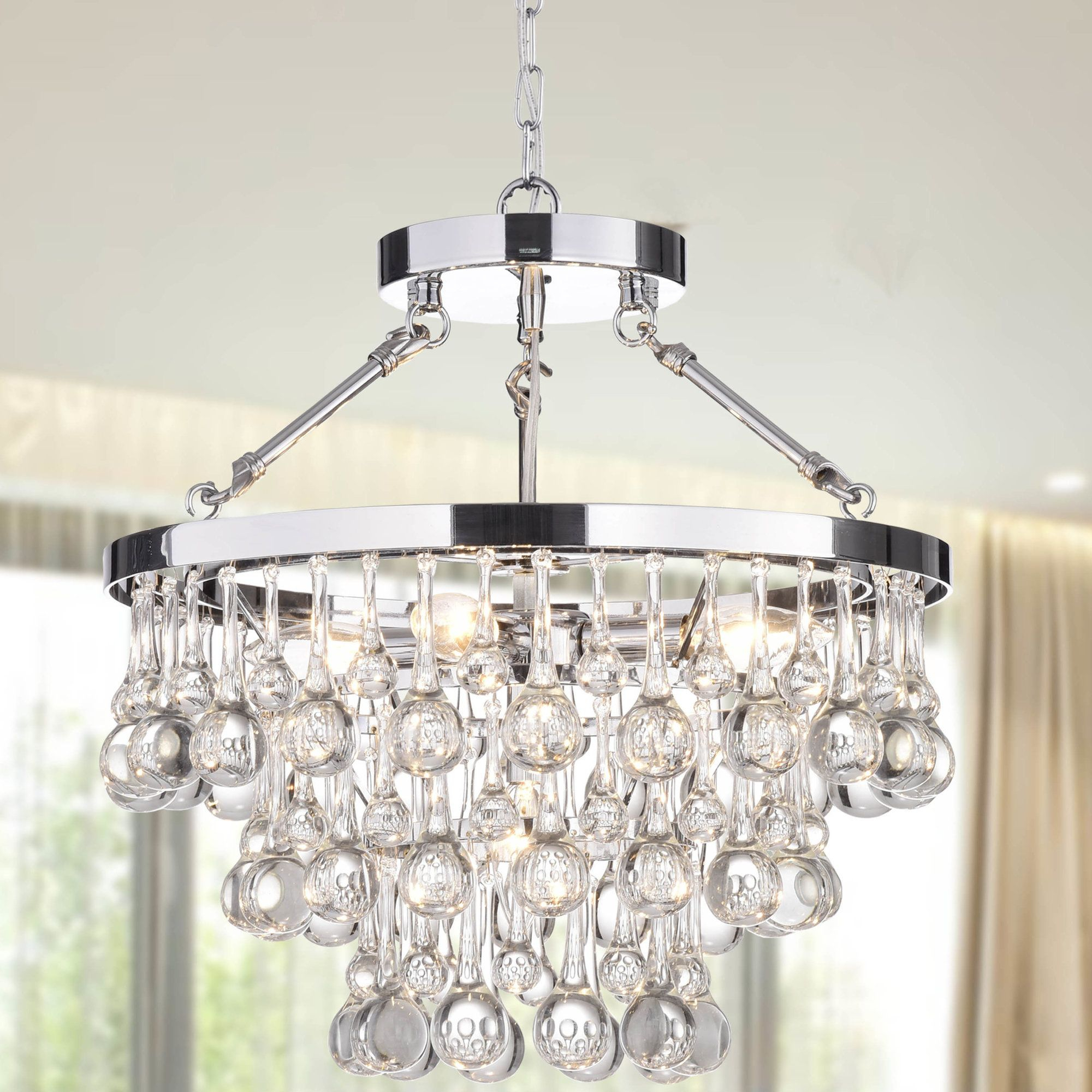 Koalemos 5 Light Crystal Chandelier | Products | Chandelier Throughout Verdell 5 Light Crystal Chandeliers (Photo 4 of 30)