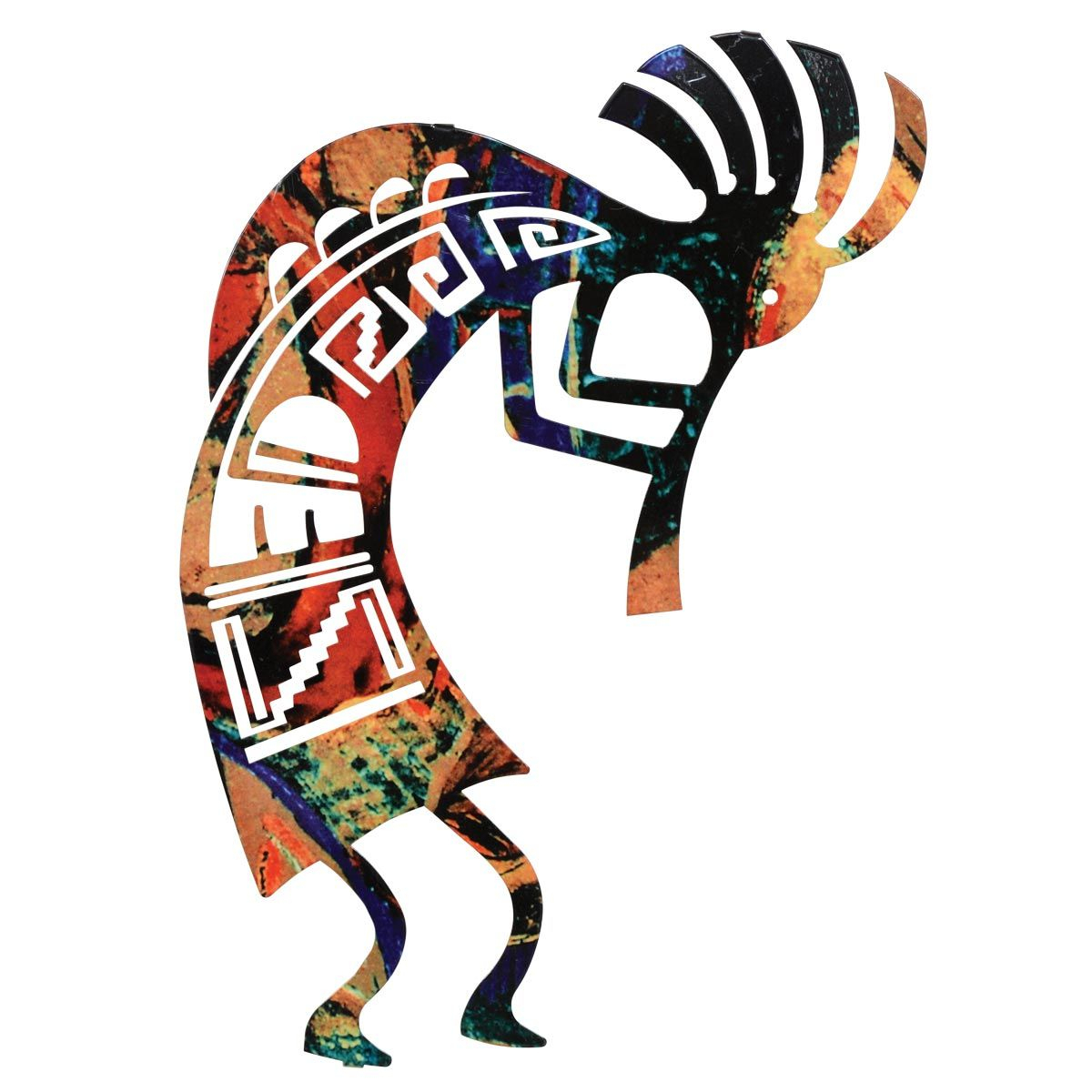 Kokopelli Dance Metal Wall Art   12 Inch Within Dance Of Desire Wall Decor (Photo 9 of 30)