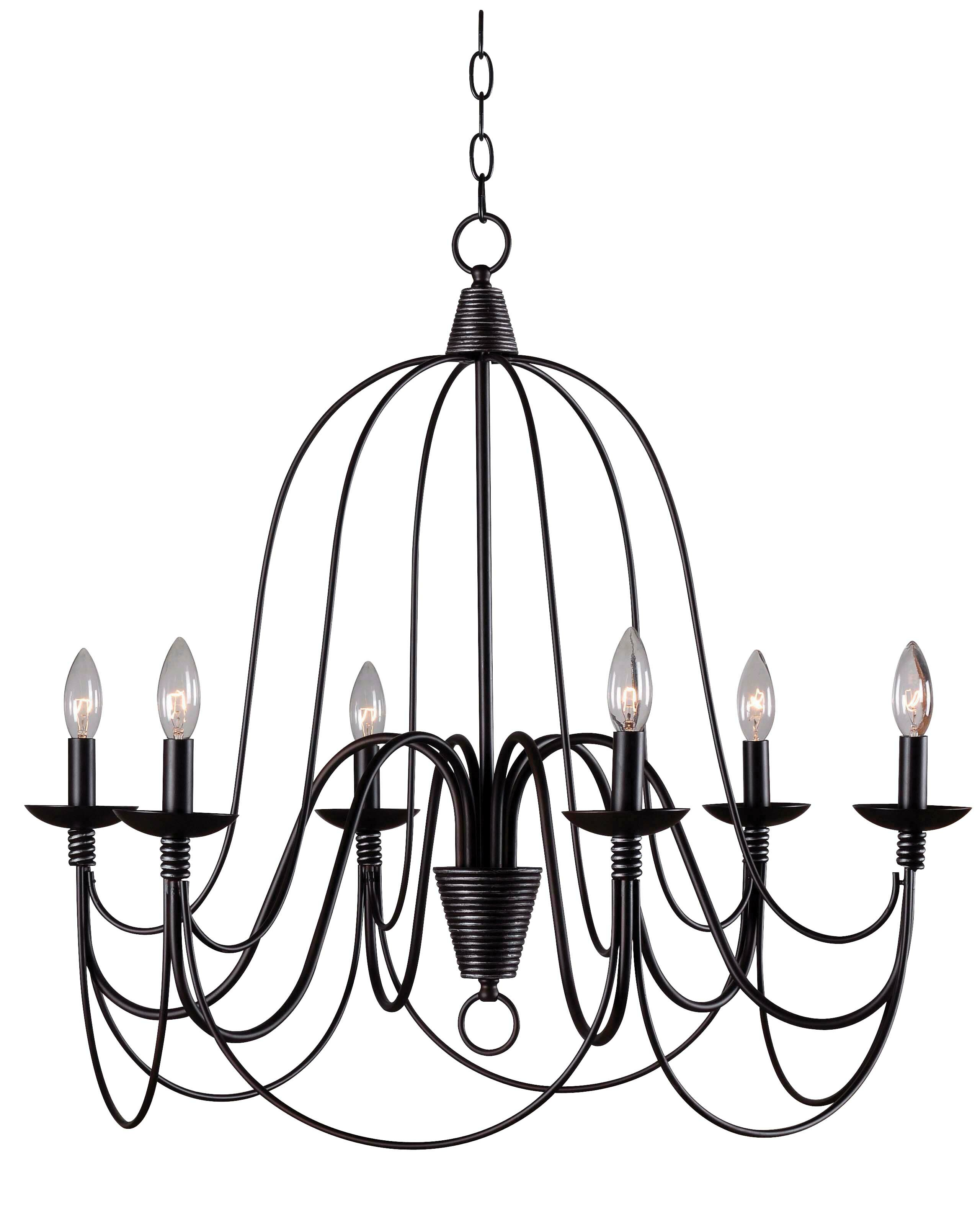 Kollman 6 Light Candle Style Chandelier In Bouchette Traditional 6 Light Candle Style Chandeliers (Photo 6 of 30)