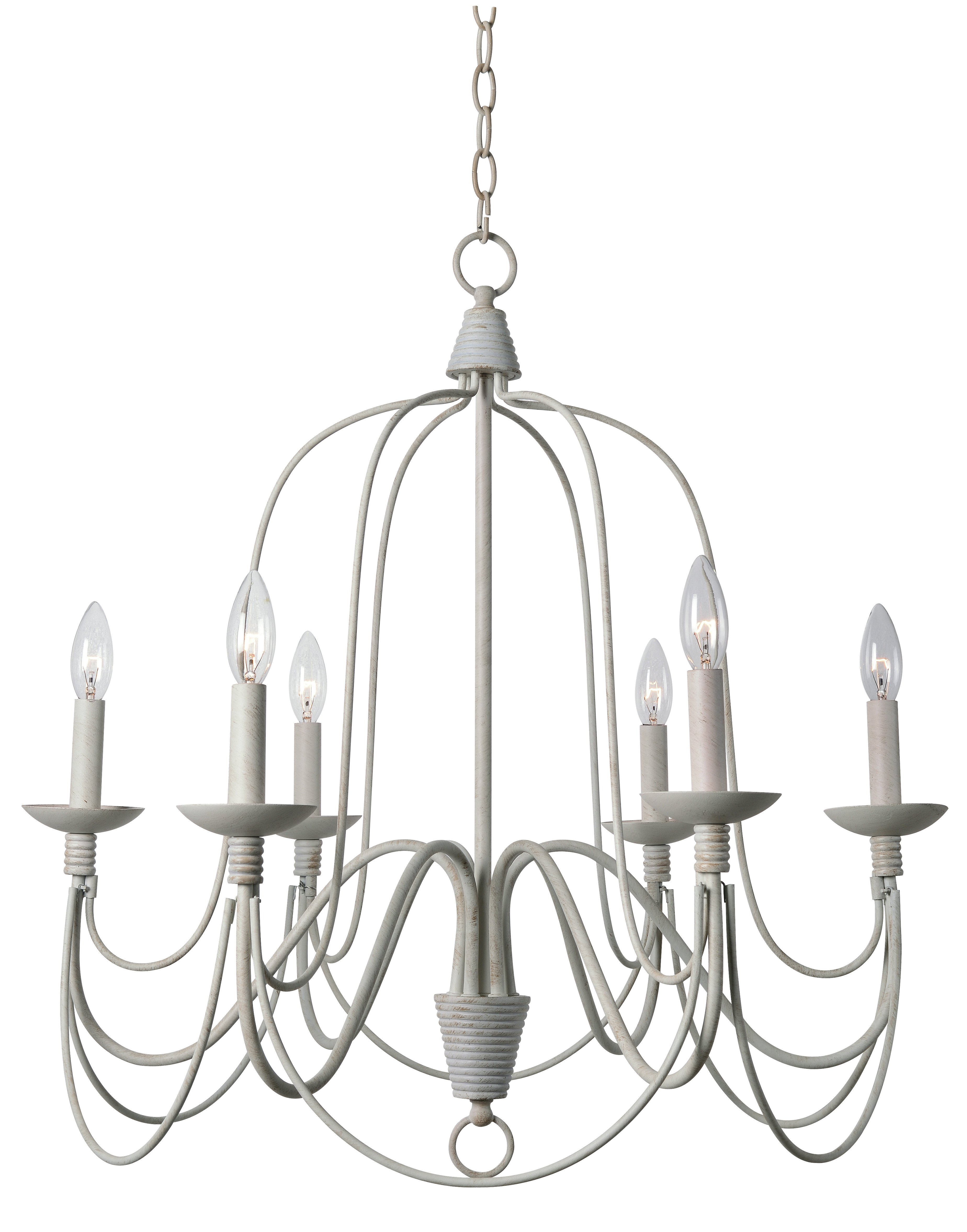 Kollman 6-Light Candle Style Chandelier intended for Camilla 9-Light Candle Style Chandeliers (Image 18 of 30)