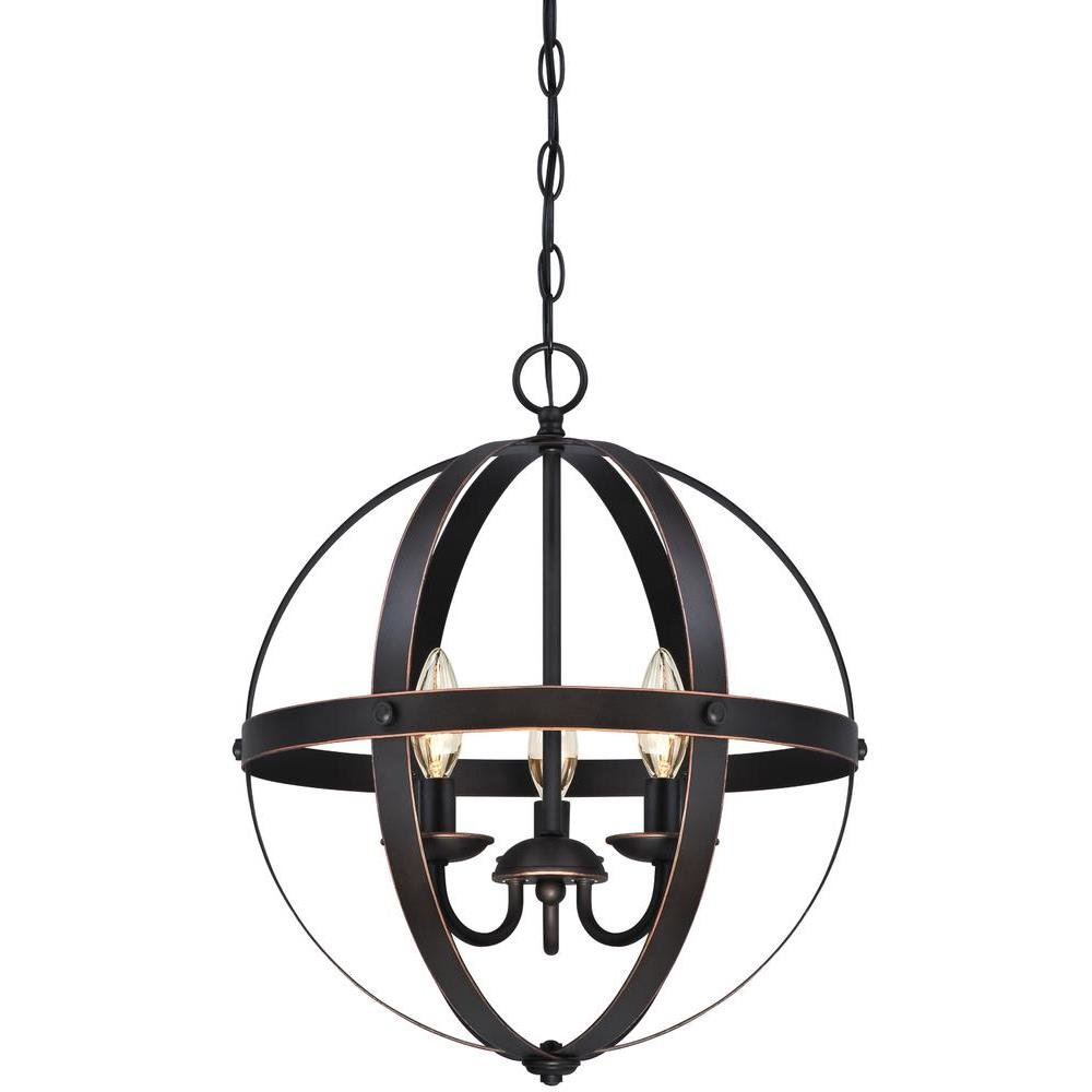 La Barge 3 Light Globe Chandelier Regarding Farrier 3 Light Lantern Drum Pendants (View 17 of 30)