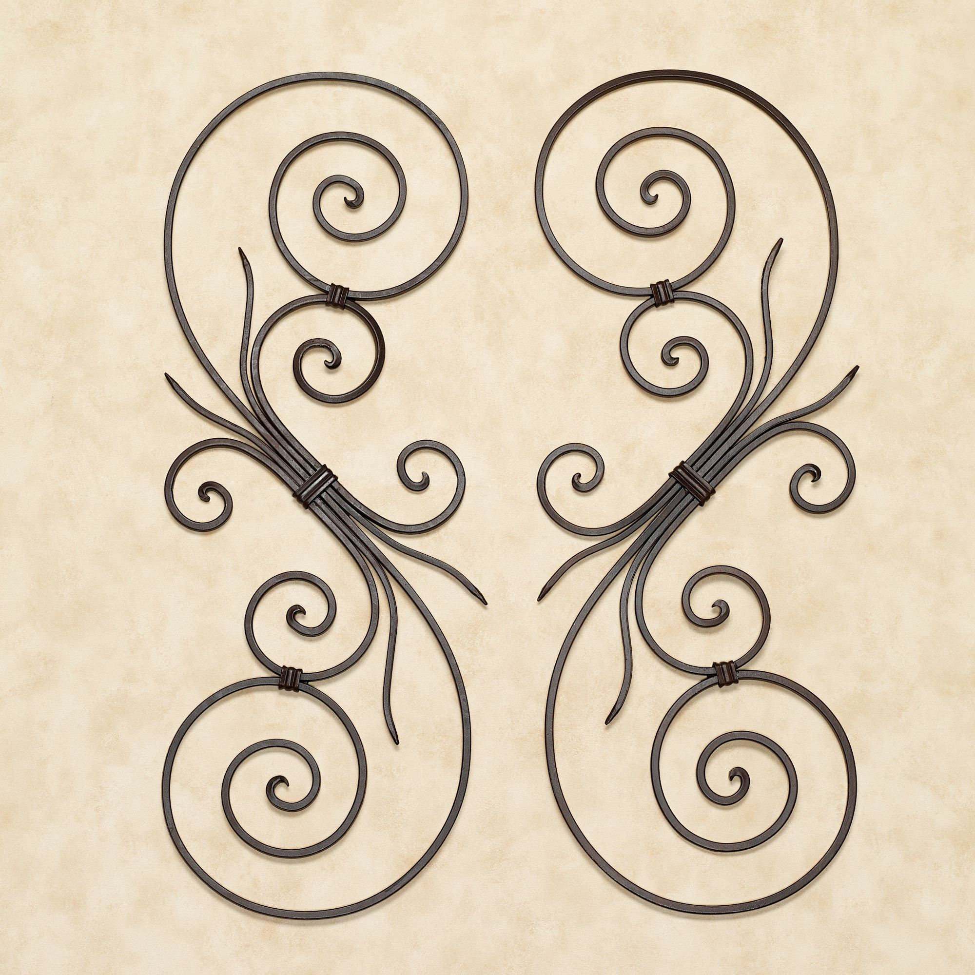 La Casiola Scroll Wall Art for Ornamental Wood And Metal Scroll Wall Decor (Image 13 of 30)