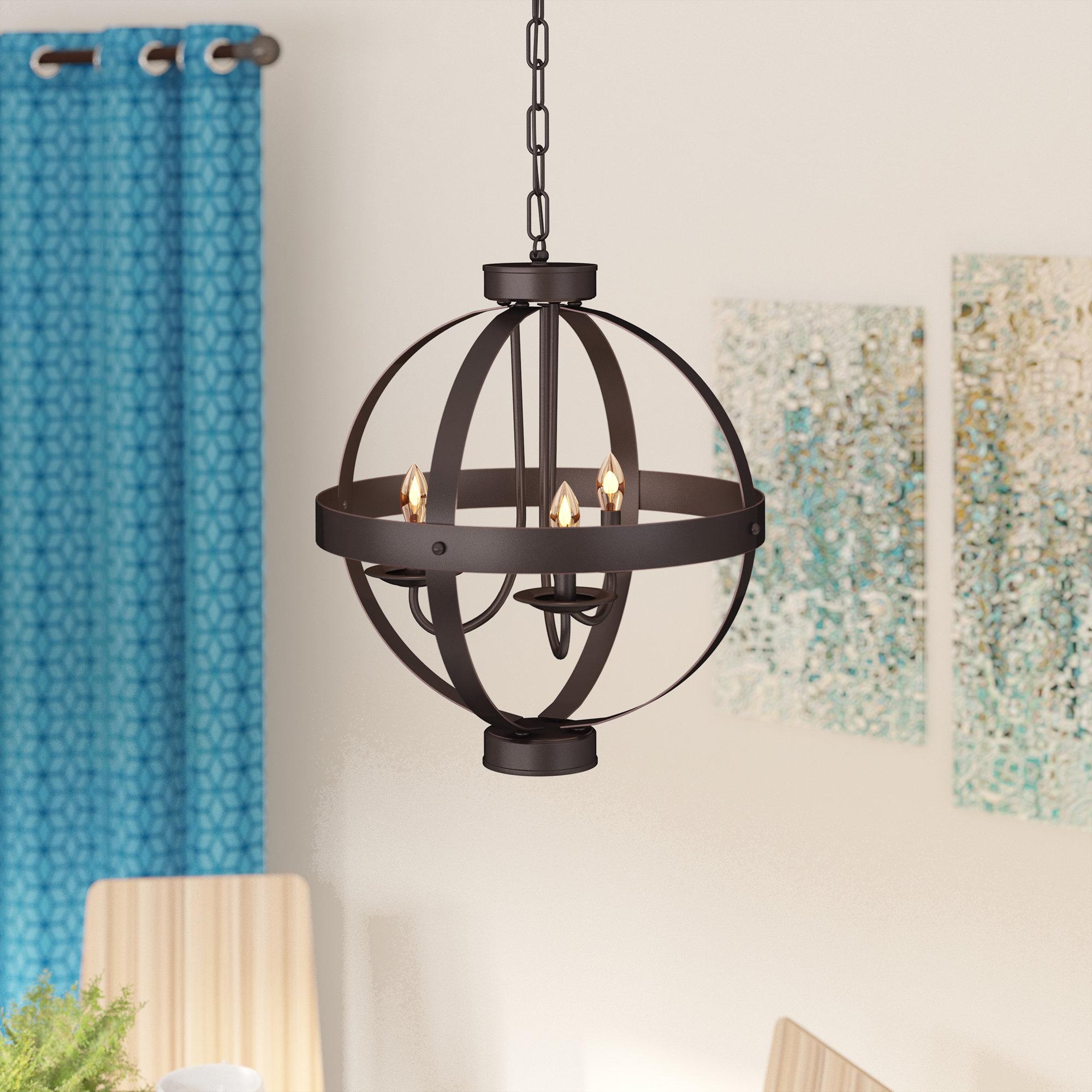 Featured Photo of La Sarre 3 Light Globe Chandeliers