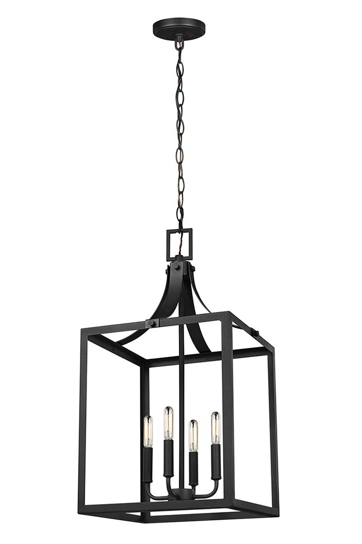 Labette 4 Light Large Hall/foyer Chandeliersea Gull With Odie 4 Light Lantern Square Pendants (View 11 of 30)