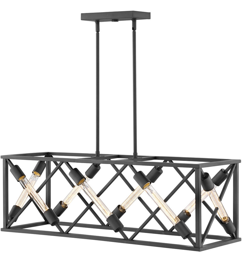 Lamps: Fredrick Ramond – Fr41204irr – Emilie Iron Rust 4 With Hewitt 4 Light Square Chandeliers (View 10 of 30)