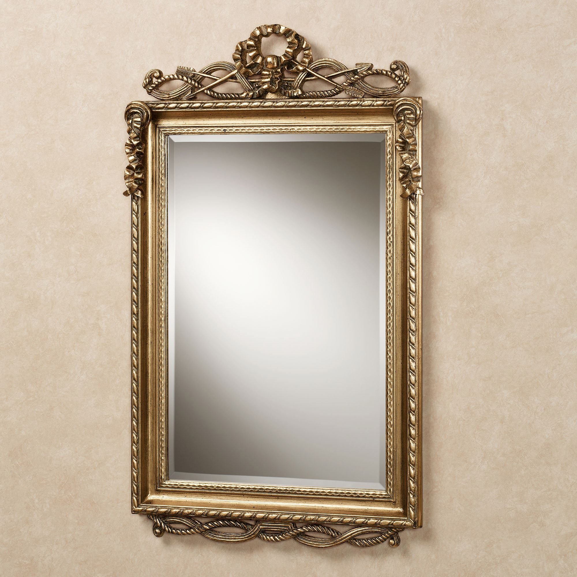 Lancaster Twist Design Rectangular Wall Mirror Throughout Traditional Metal Wall Mirrors (View 11 of 30)