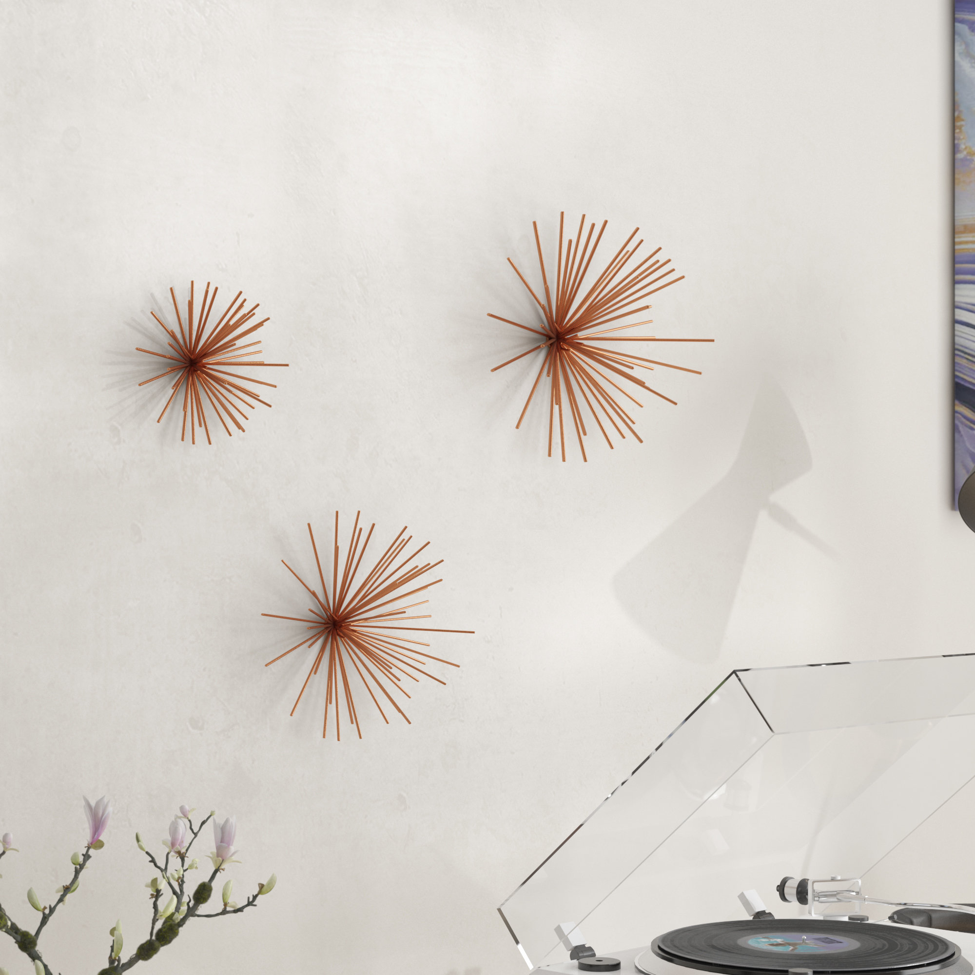 Langley Street 3 Piece Decorative Metal Star Wall Decor Set Intended For 3 Piece Star Wall Decor Sets (View 22 of 30)