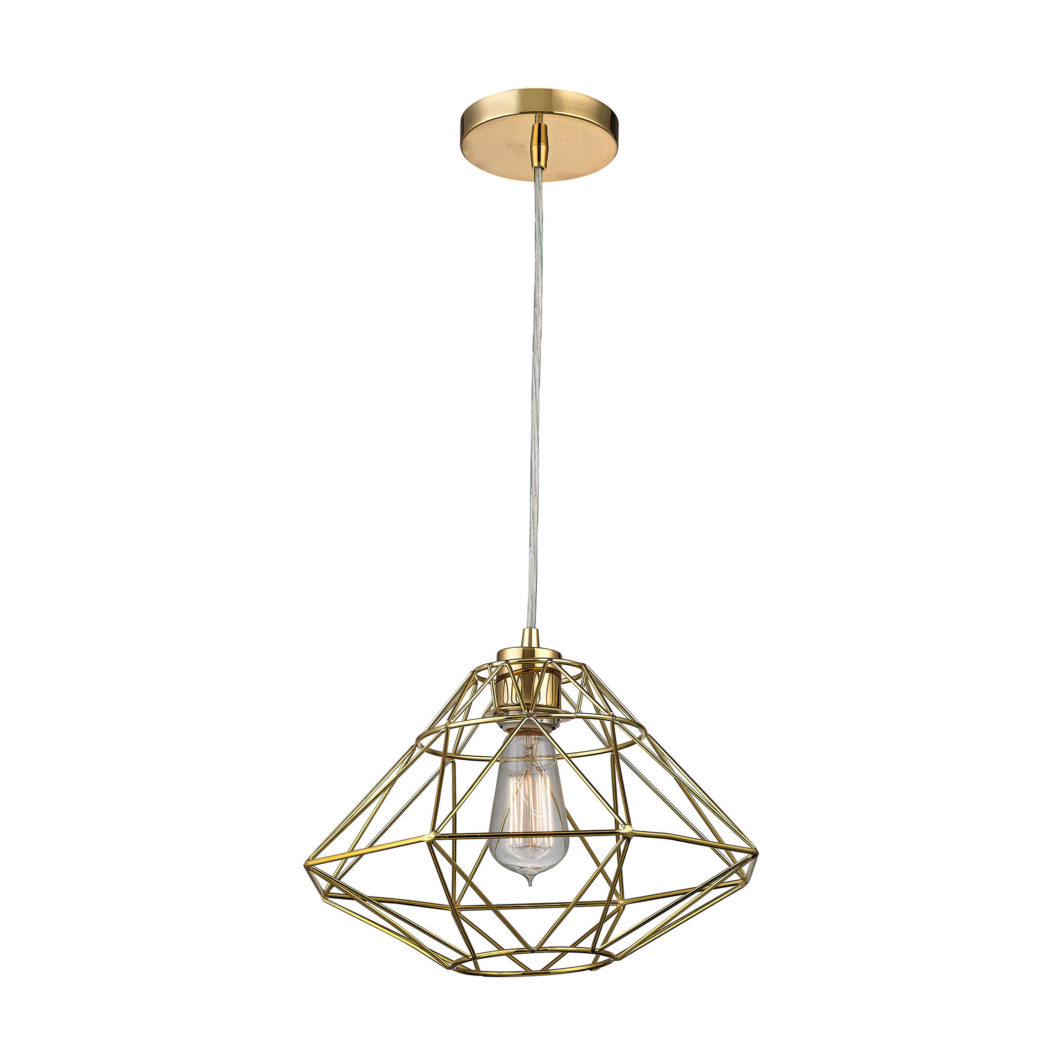 Langley Street Alcorn Lake 1 Light Geometric Pendant In Hydetown 1 Light Single Geometric Pendants (View 9 of 30)