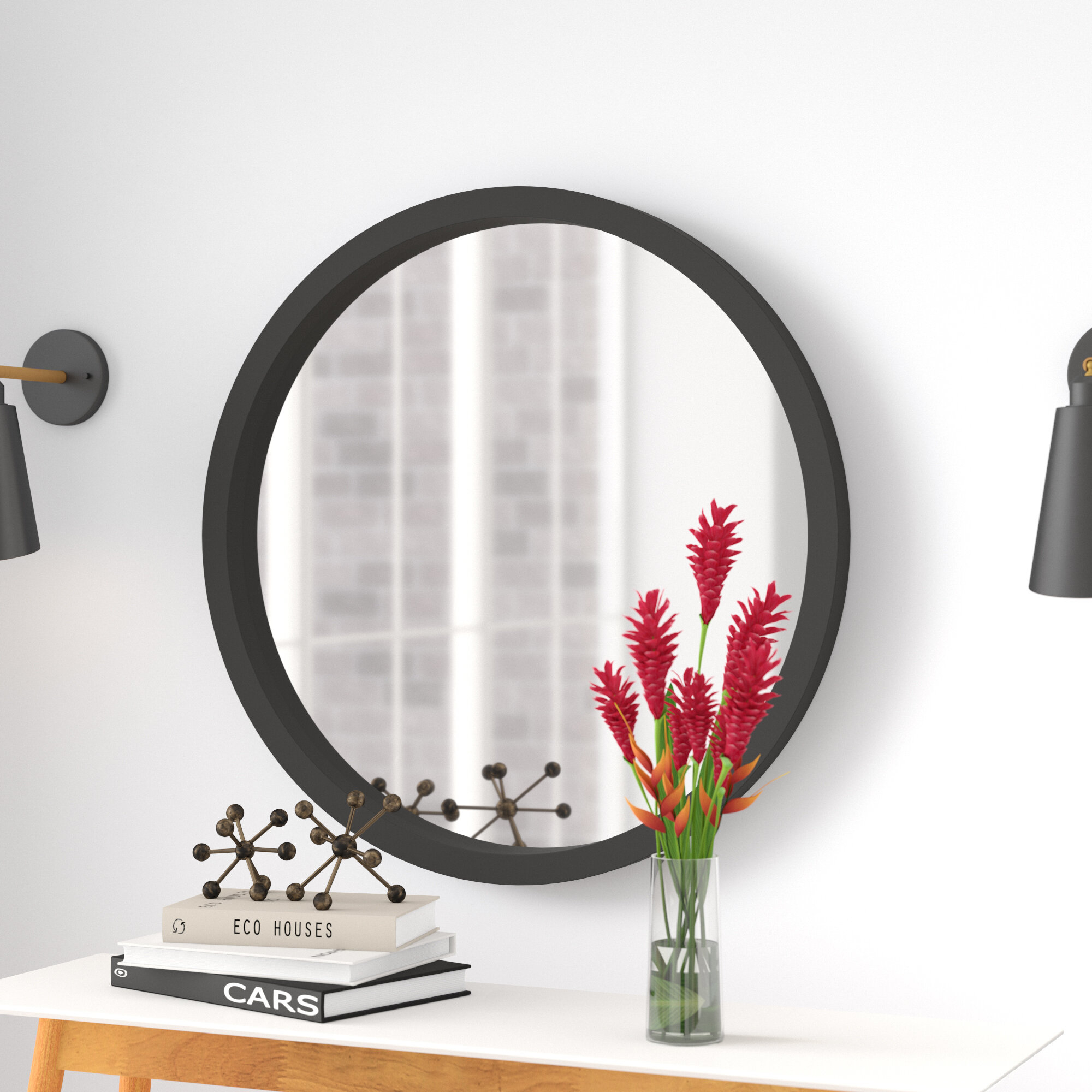 Langley Street Samson Modern & Contemporary Wall Mirror pertaining to Colton Modern & Contemporary Wall Mirrors (Image 19 of 30)