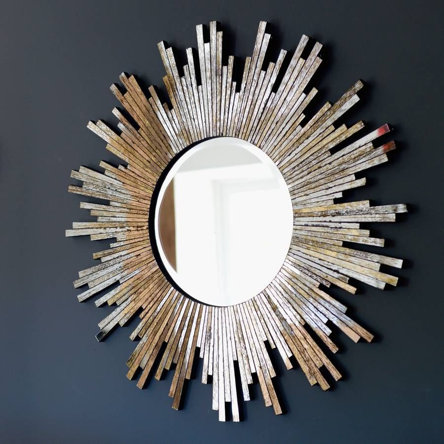 Large Burnished Sunburst Mirror | Banyo In 2019 | Sunburst With Regard To Josephson Starburst Glam Beveled Accent Wall Mirrors (View 15 of 22)