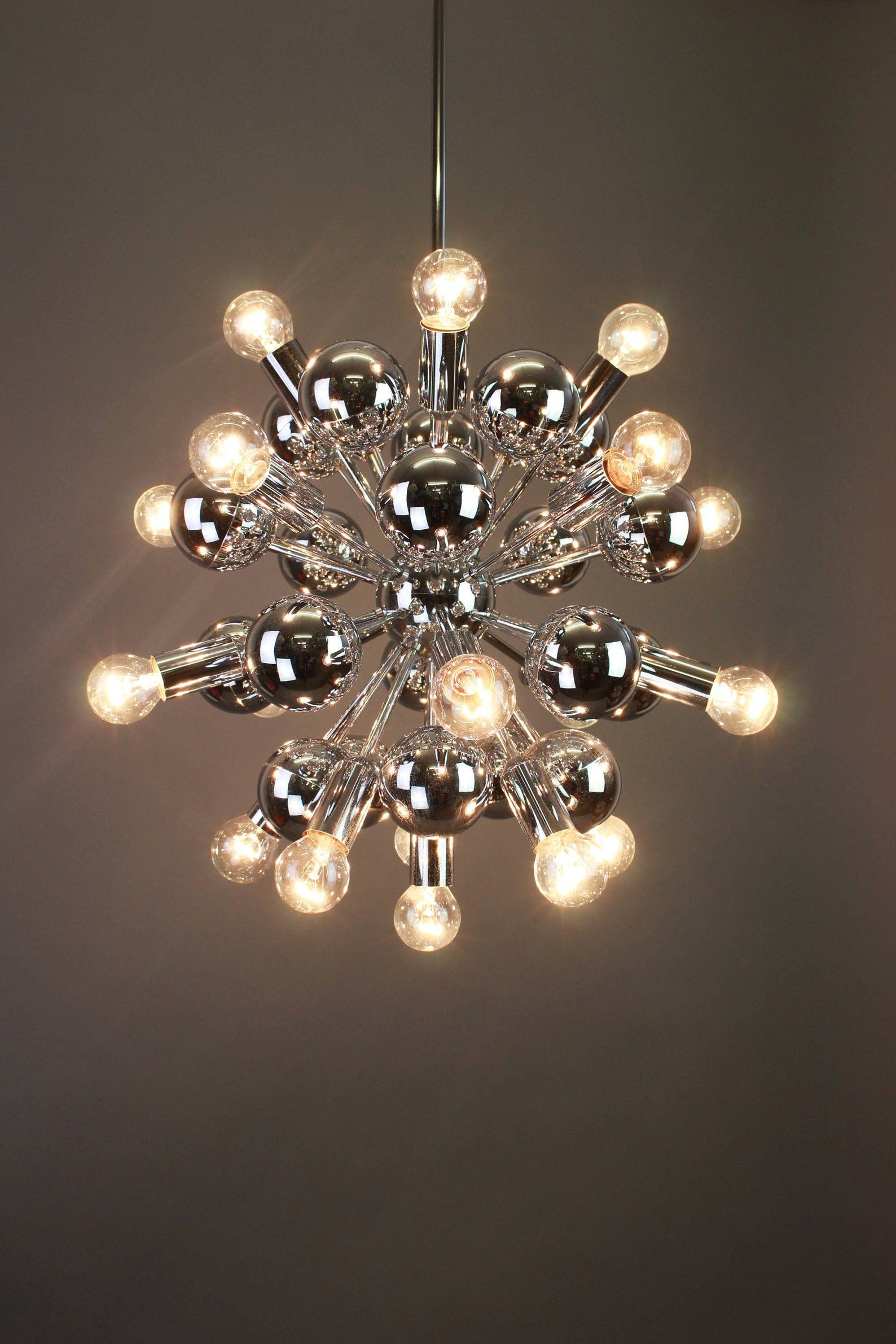 Large Chrome Vintage Sputnik Chandeliercosack Germany regarding Asher 12-Light Sputnik Chandeliers (Image 18 of 30)