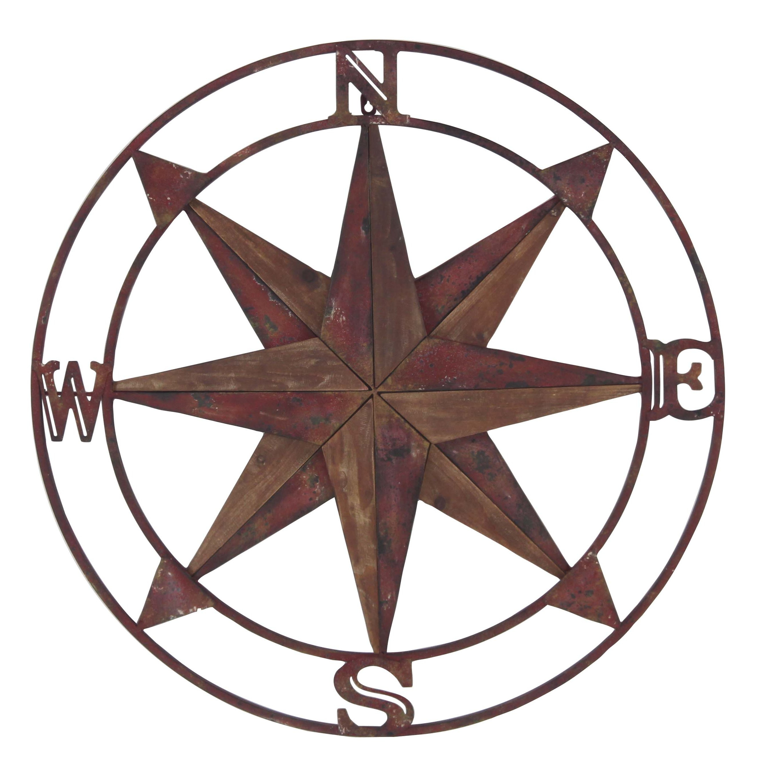 Large Compass Wall Decor | Wayfair for Round Compass Wall Decor (Image 17 of 30)