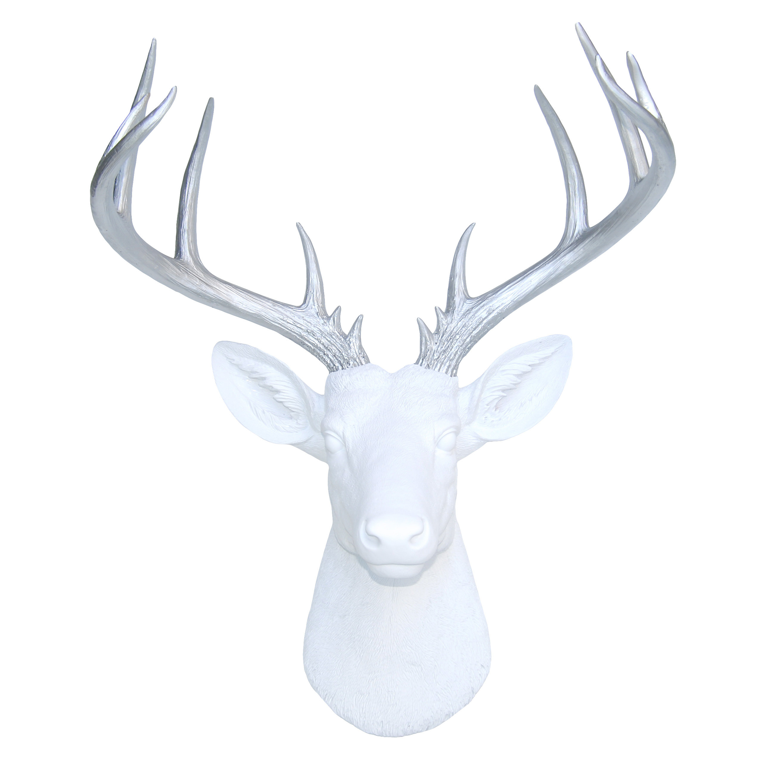 Large Deer Head Faux Taxidermy Wall Décor in Atlantis Faux Taxidermy Wall Decor (Image 15 of 30)