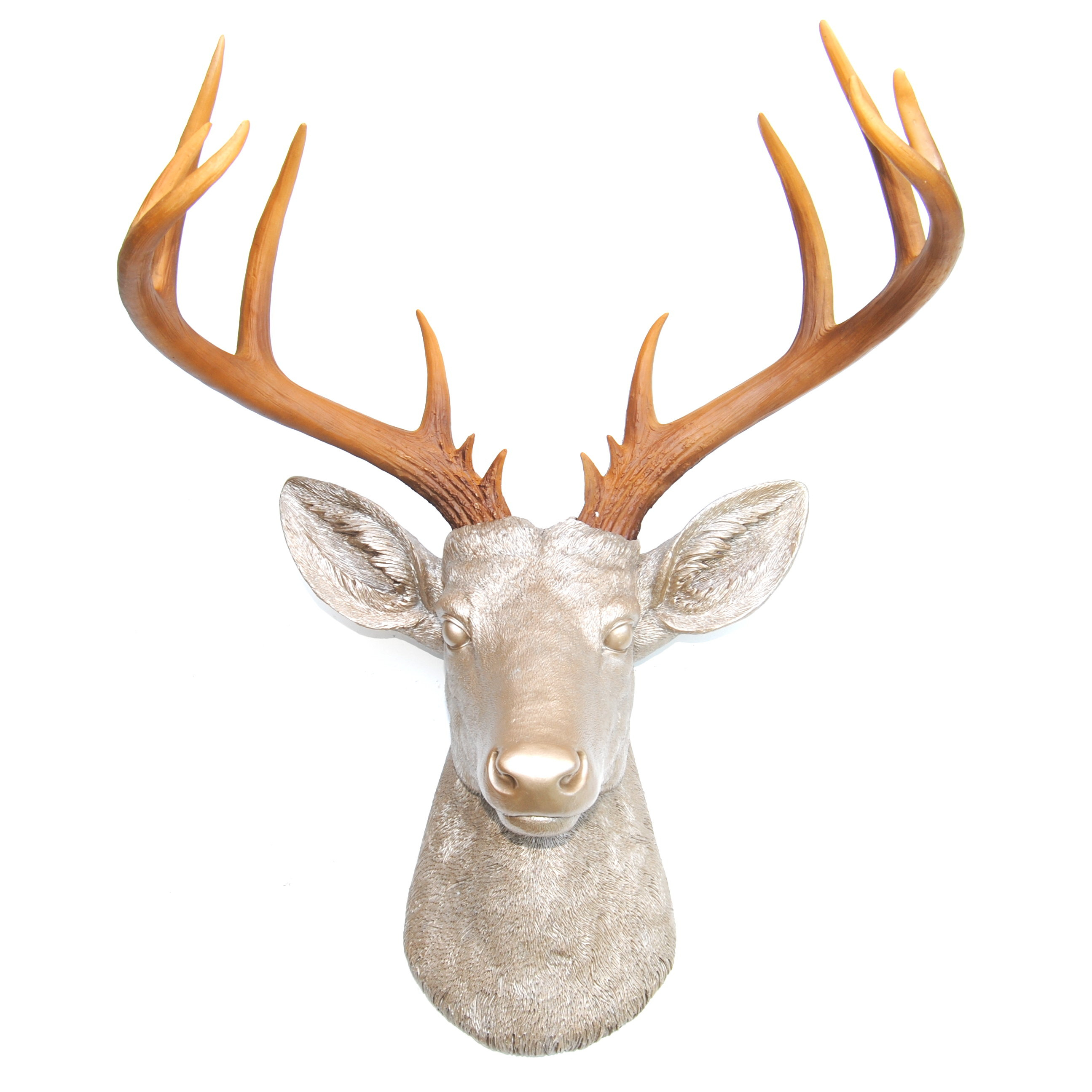 Large Deer Head Faux Taxidermy Wall Décor Intended For Highlands Ranch The Templeton Wall Decor (View 22 of 30)