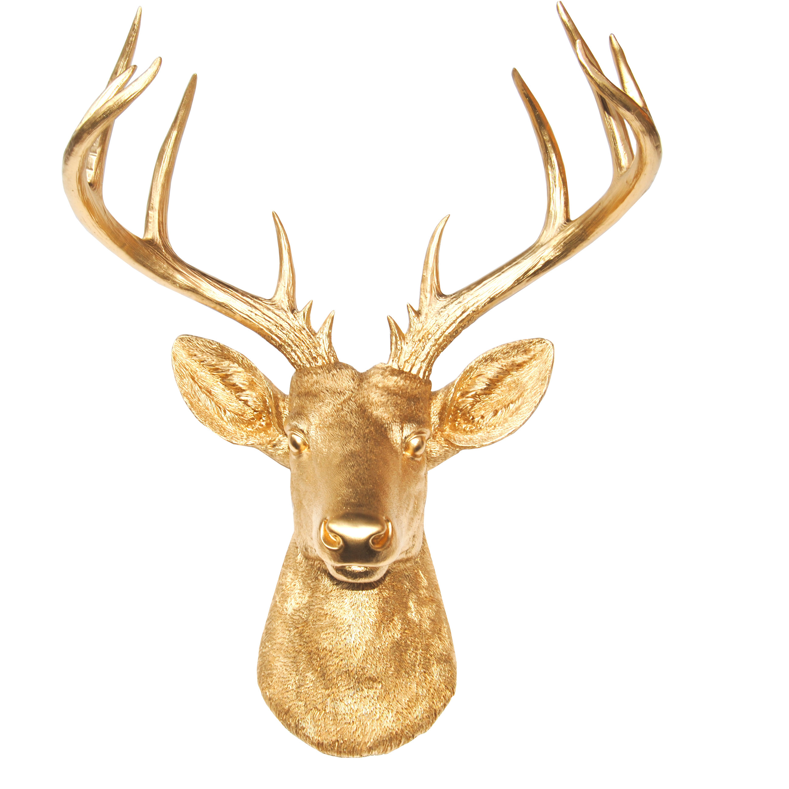Large Deer Head Faux Taxidermy Wall Décor Within Large Deer Head Faux Taxidermy Wall Decor (View 2 of 30)