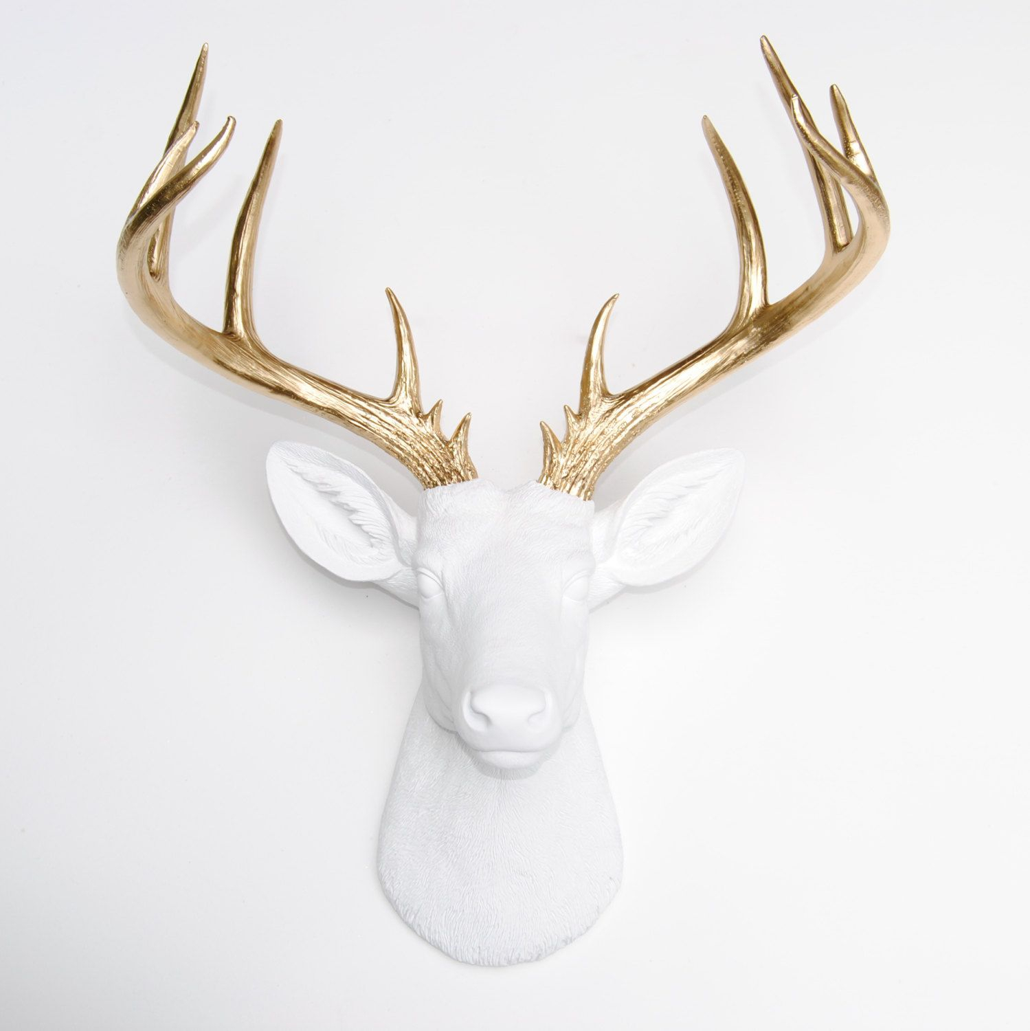 Large Deer Head Sculpture –near And Deer Faux Taxidermy Regarding Large Deer Head Faux Taxidermy Wall Decor (View 3 of 30)