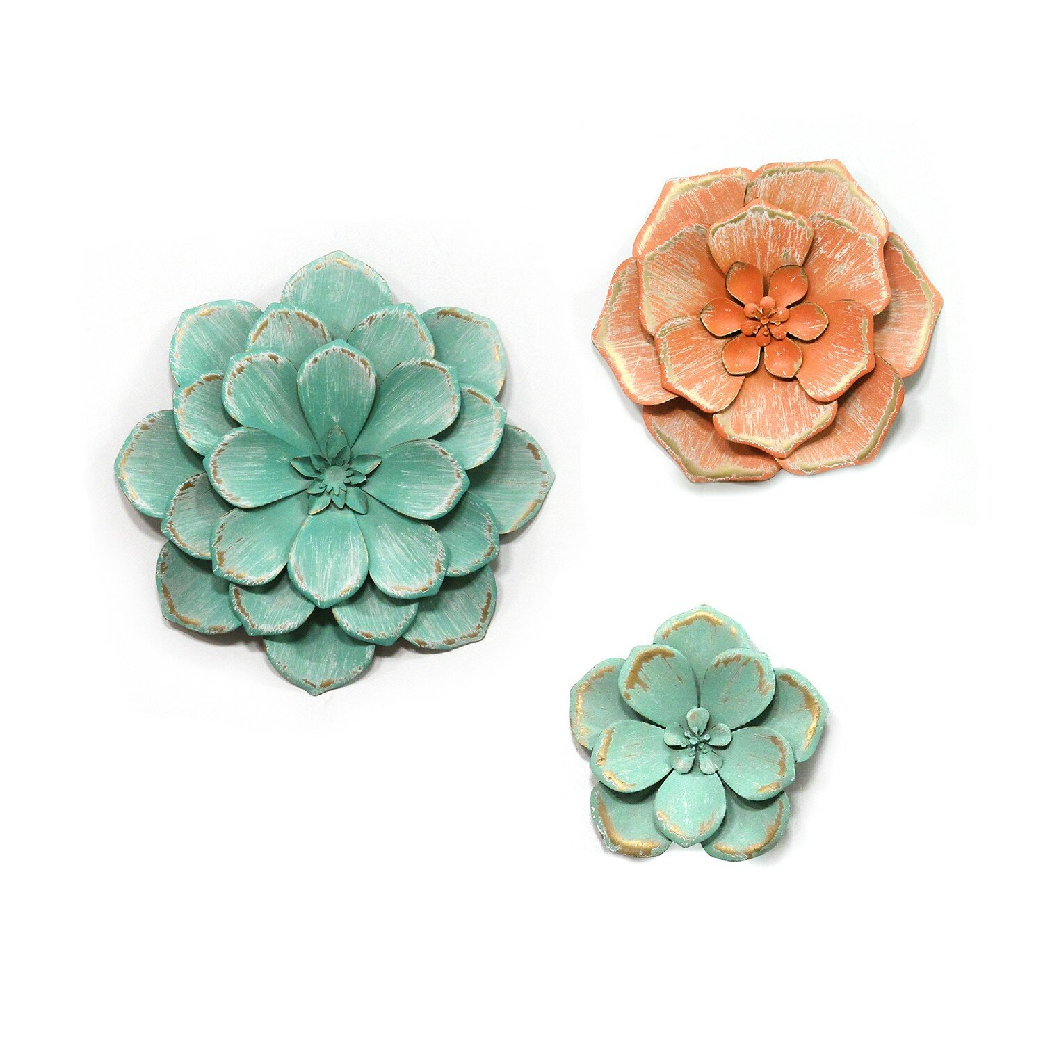 Large Flower Wall Decor | Wayfair with 3 Piece Ceramic Flowers Wall Decor Sets (Image 24 of 30)