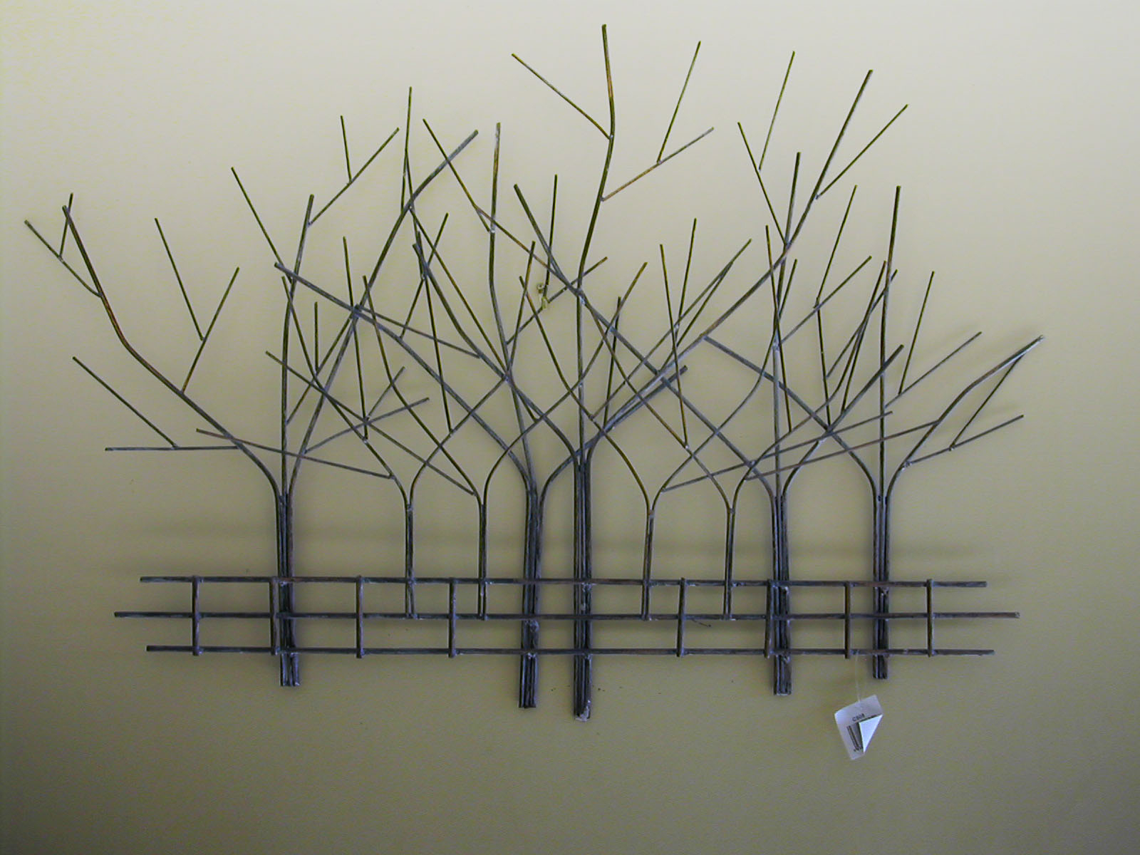 Large Metal Tree Wall Hanging Interesting Art Designs Decor inside Leaves Metal Sculpture Wall Decor (Image 19 of 30)
