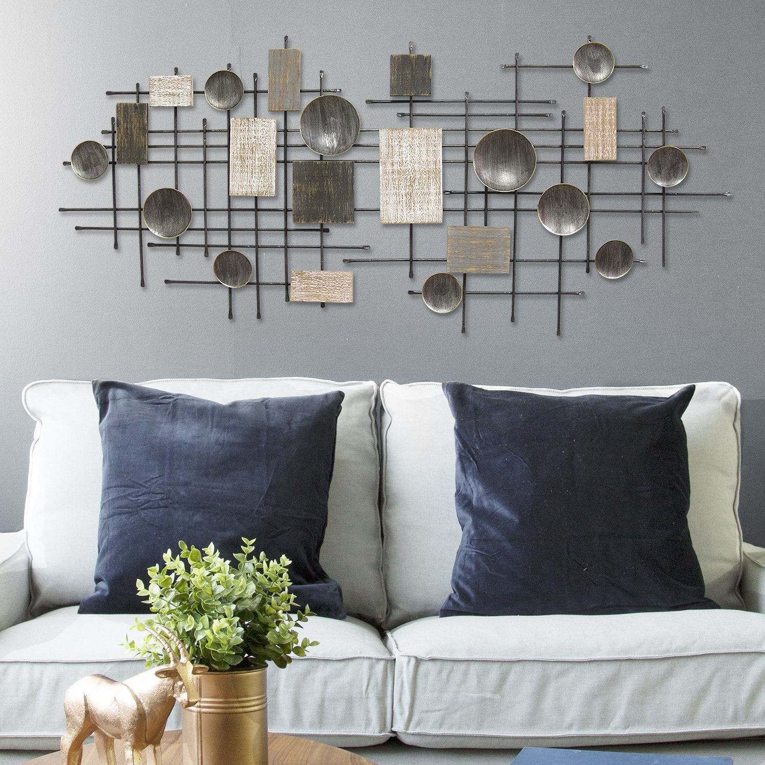 Large Modern Industrial Wall Décor Throughout Large Modern Industrial Wall Decor (Photo 1 of 30)