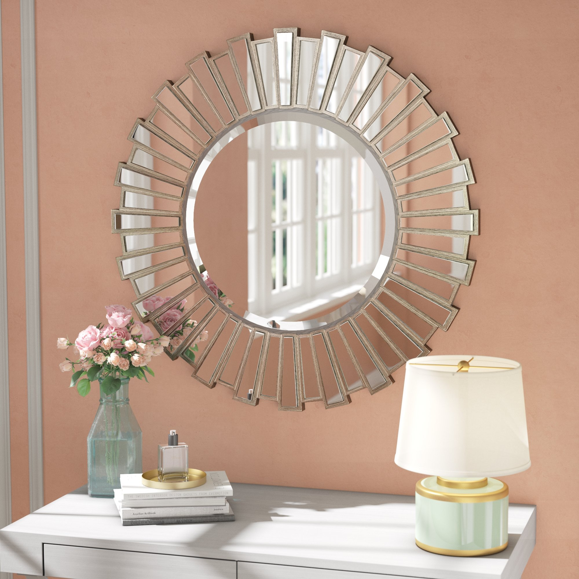 "Large & Oversized (Over 32"" High) Sunburst Mirrors You'll Throughout Jarrod Sunburst Accent Mirrors (View 8 of 30)"