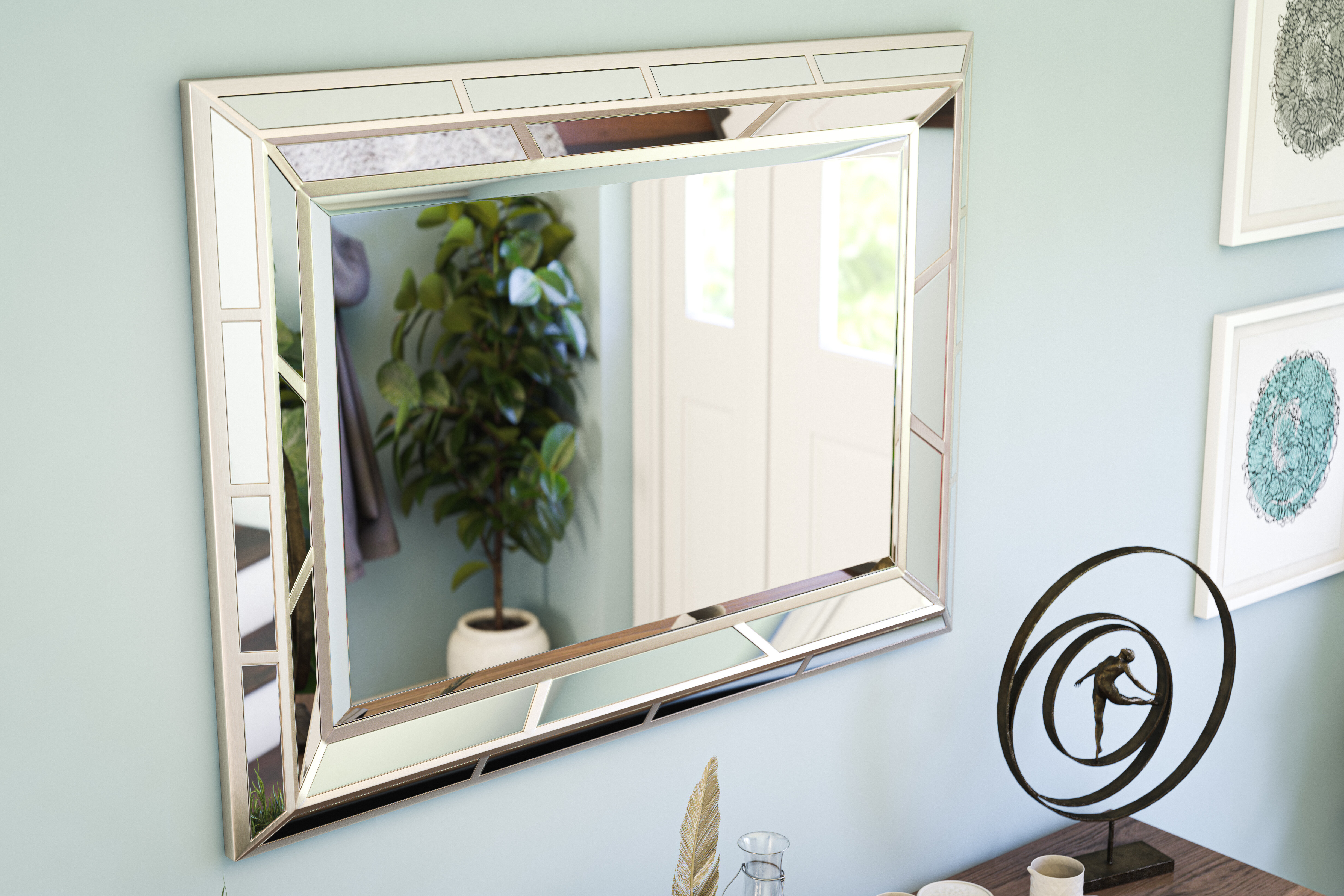 """Large & Oversized (Over 32"""" High) Wall Mirrors 