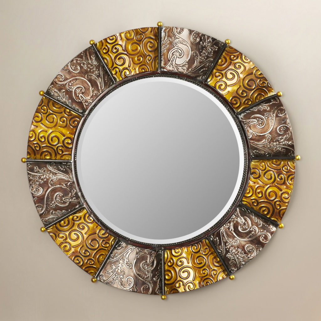Large Round Gold Mirror Uk - Mirror Ideas in Kentwood Round Wall Mirrors (Image 14 of 30)