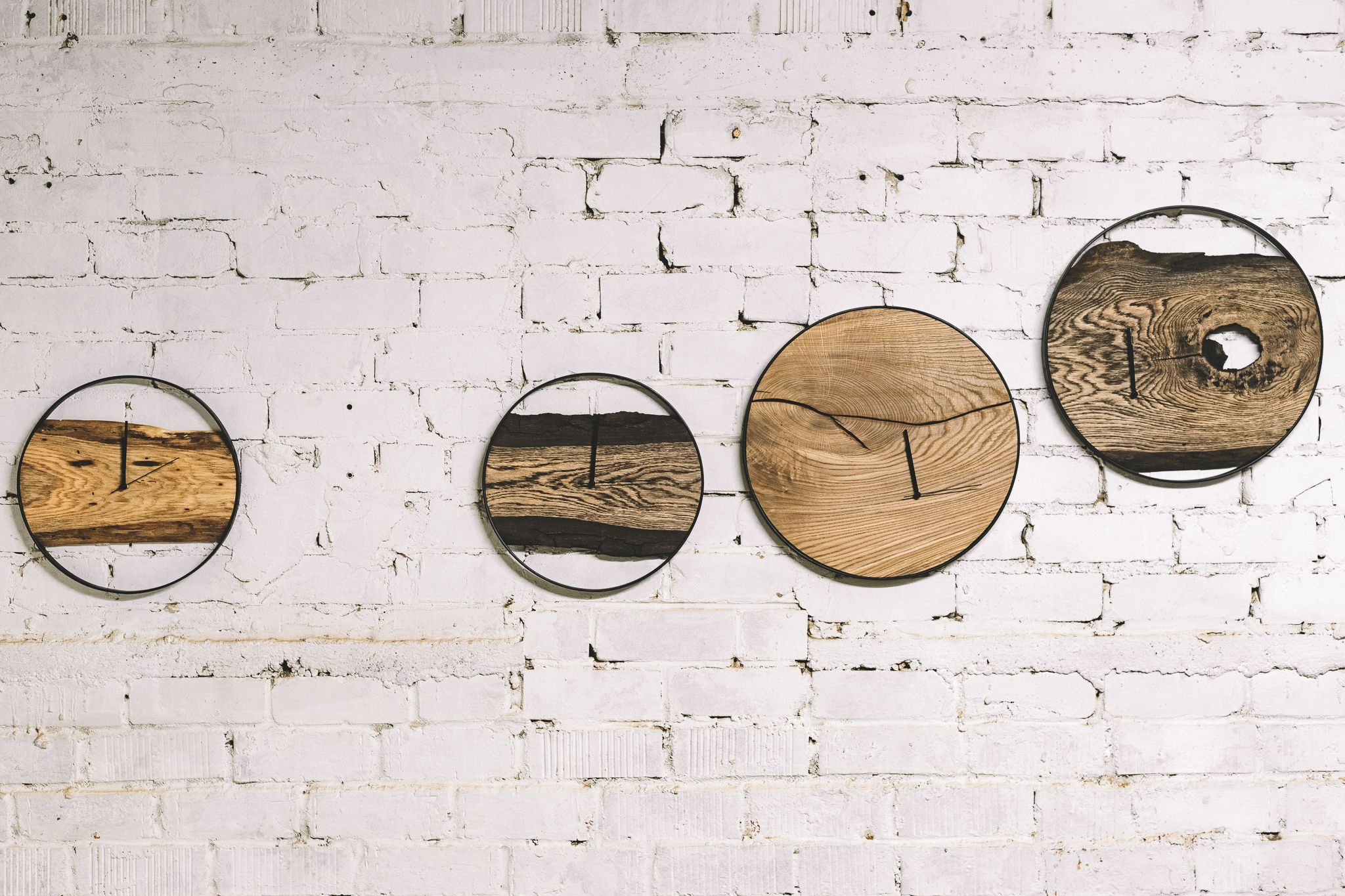 Large Wall Clock / Wooden Clock / Wall Clock / Home Decor Within Large Modern Industrial Wall Decor (Photo 26 of 30)
