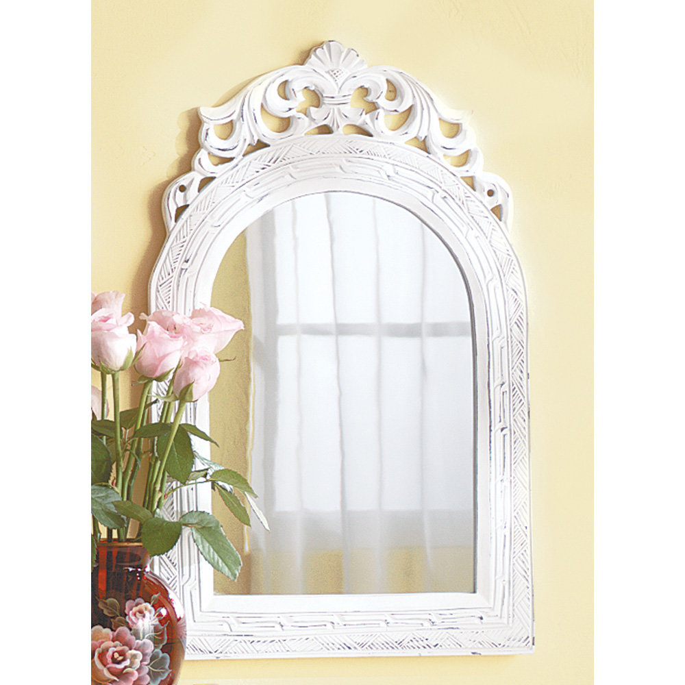 Lark Manor Contemporary Vertical Arched Wall Mirror with regard to Arch Vertical Wall Mirrors (Image 22 of 30)