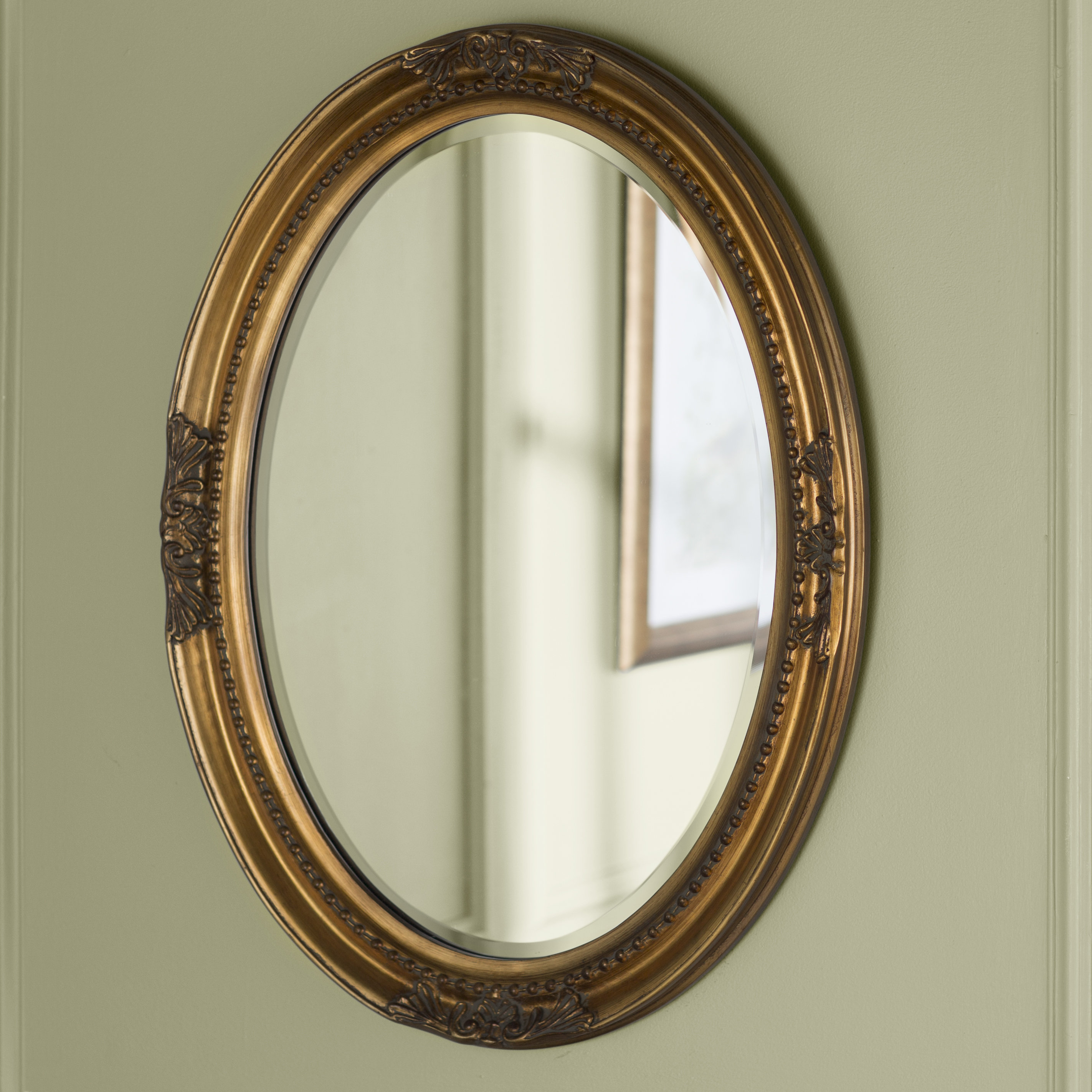 Popular Photo of Oval Wood Wall Mirrors