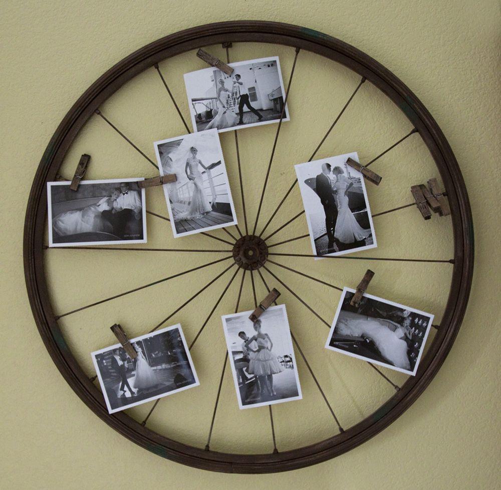 L'atelier Du Mercredi : Avec Des Roues De Vélo | Maison Intended For Millanocket Metal Wheel Photo Holder Wall Decor (View 17 of 30)