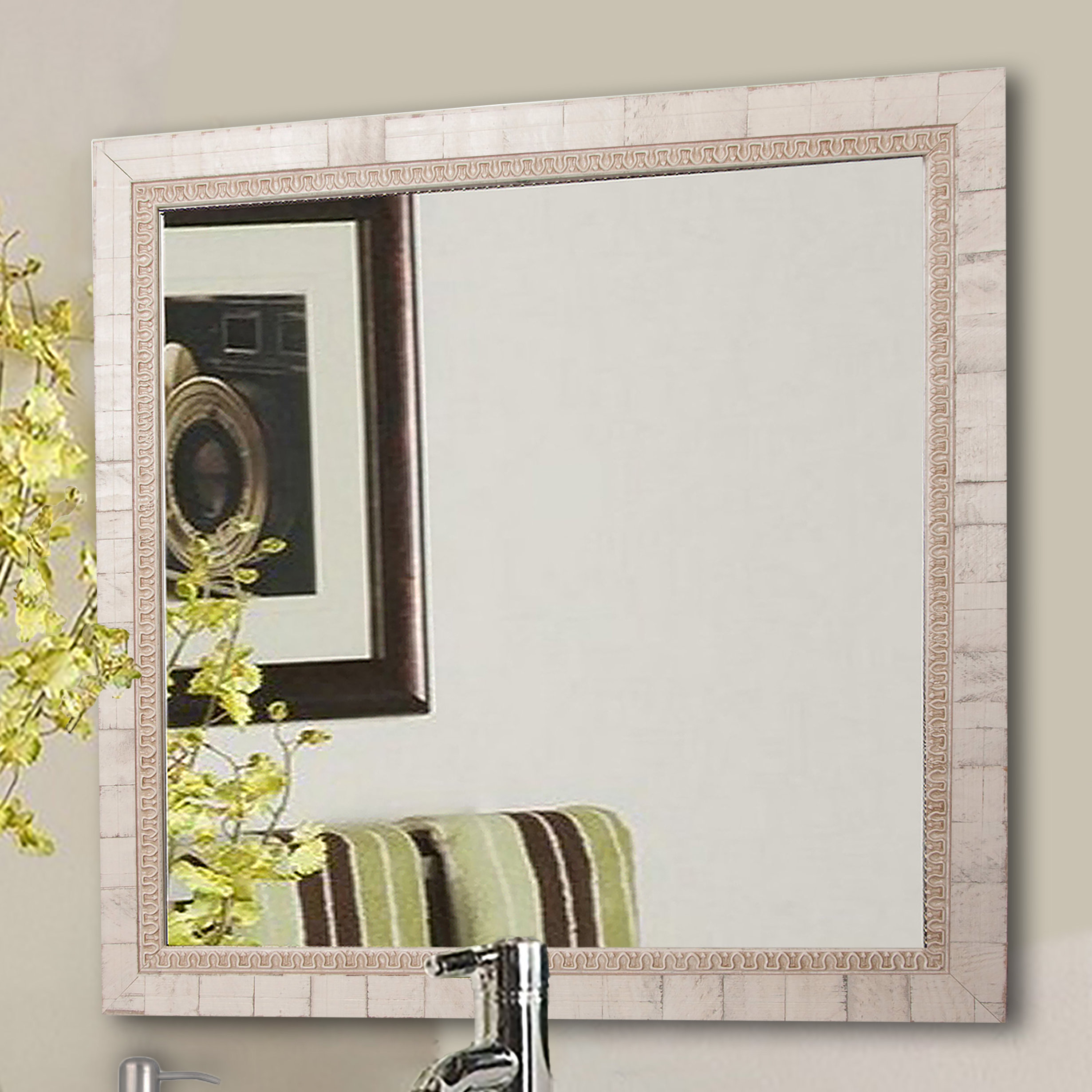 Lathrop Tuscan Wall Mirror With Epinal Shabby Elegance Wall Mirrors (View 18 of 30)
