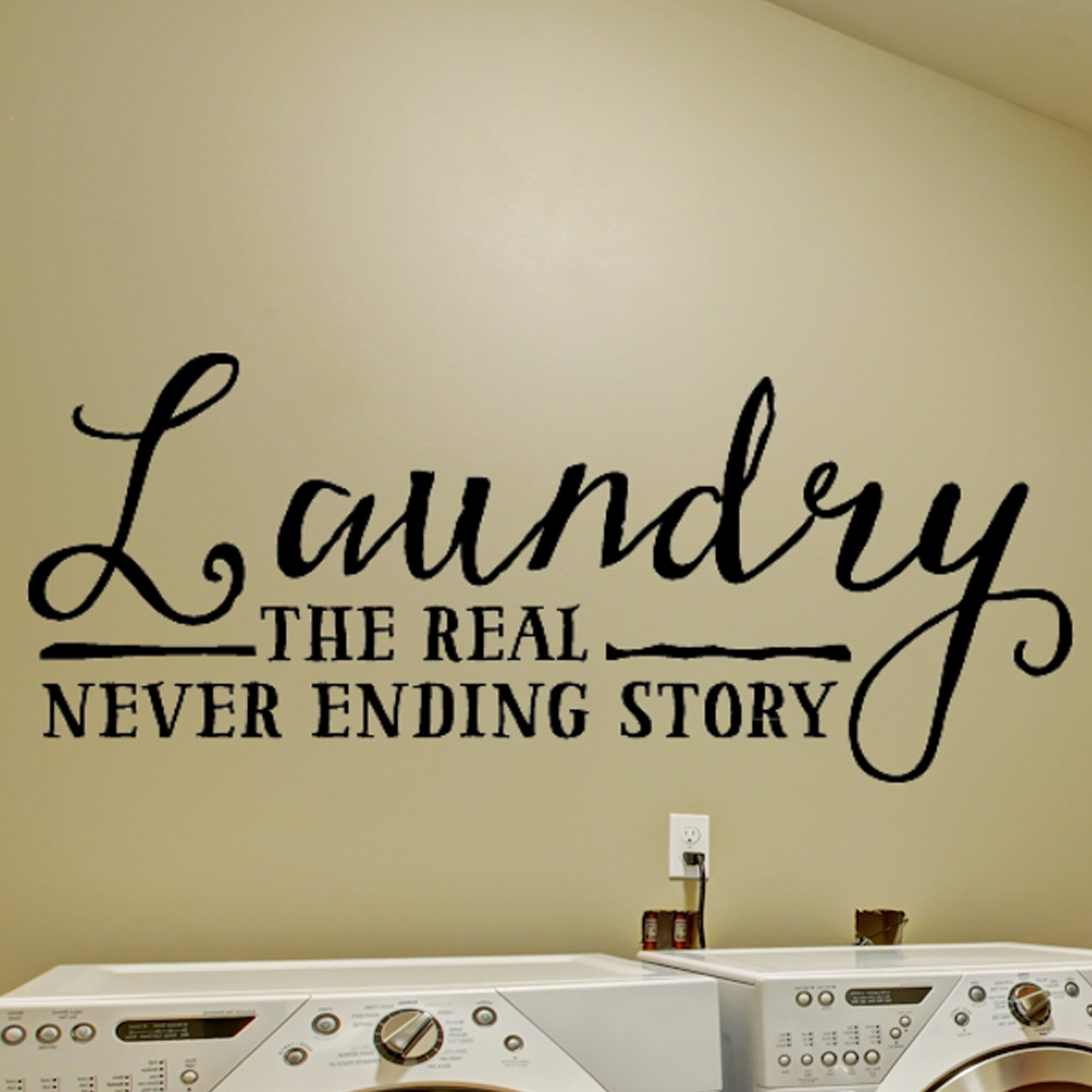Laundry Never Ending Story Laundry Room Décor Wall Decal intended for Metal Laundry Room Wall Decor by Winston Porter (Image 13 of 30)