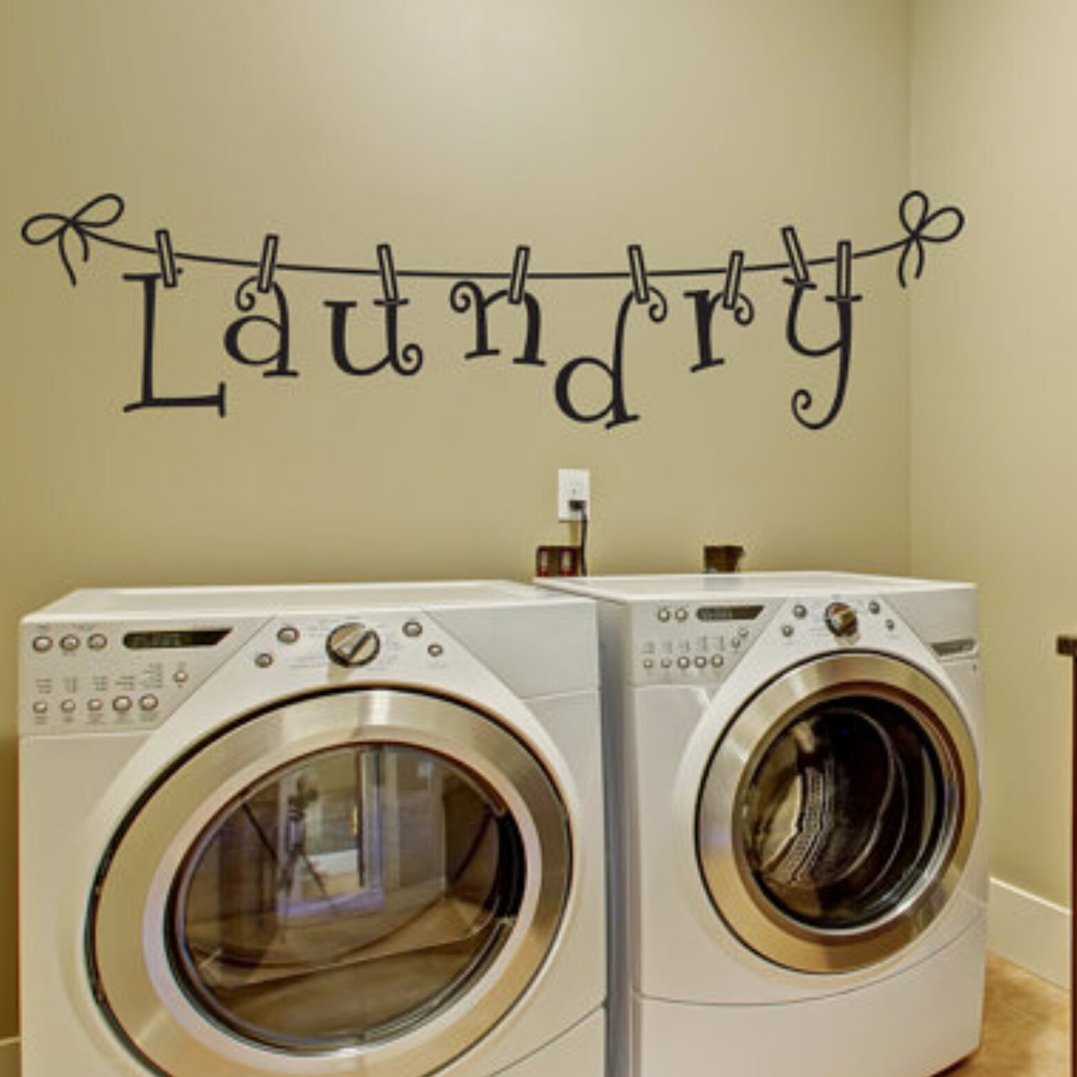 Laundry Room Decal throughout Metal Laundry Room Wall Decor by Winston Porter (Image 14 of 30)