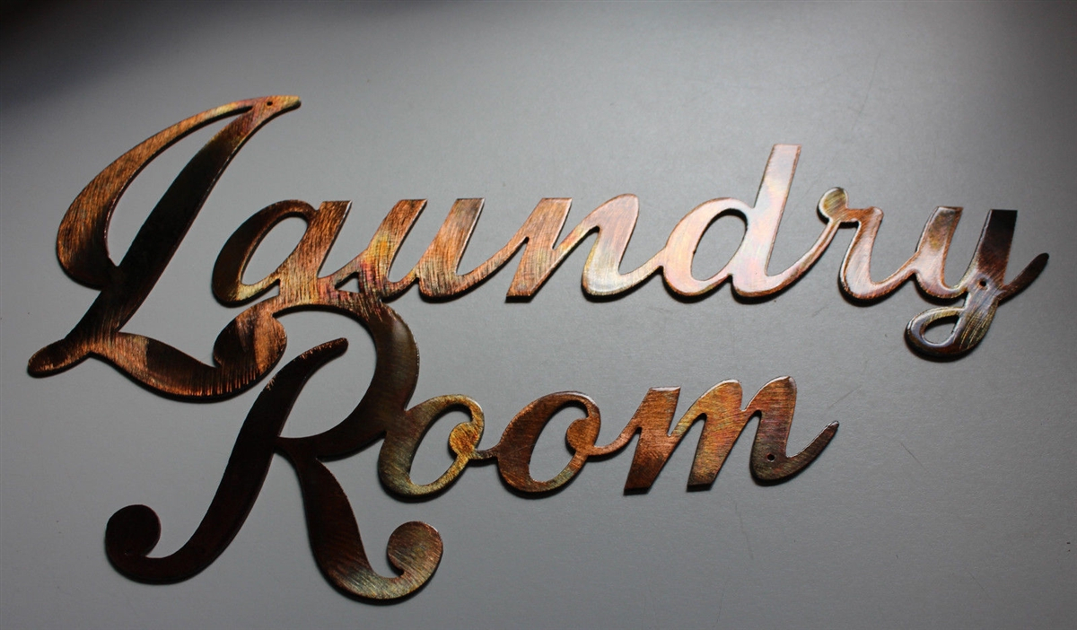 Laundry Room Sign Metal Wall Art Decor Copper/bronze Plated Throughout Metal Laundry Room Wall Decor (View 9 of 30)